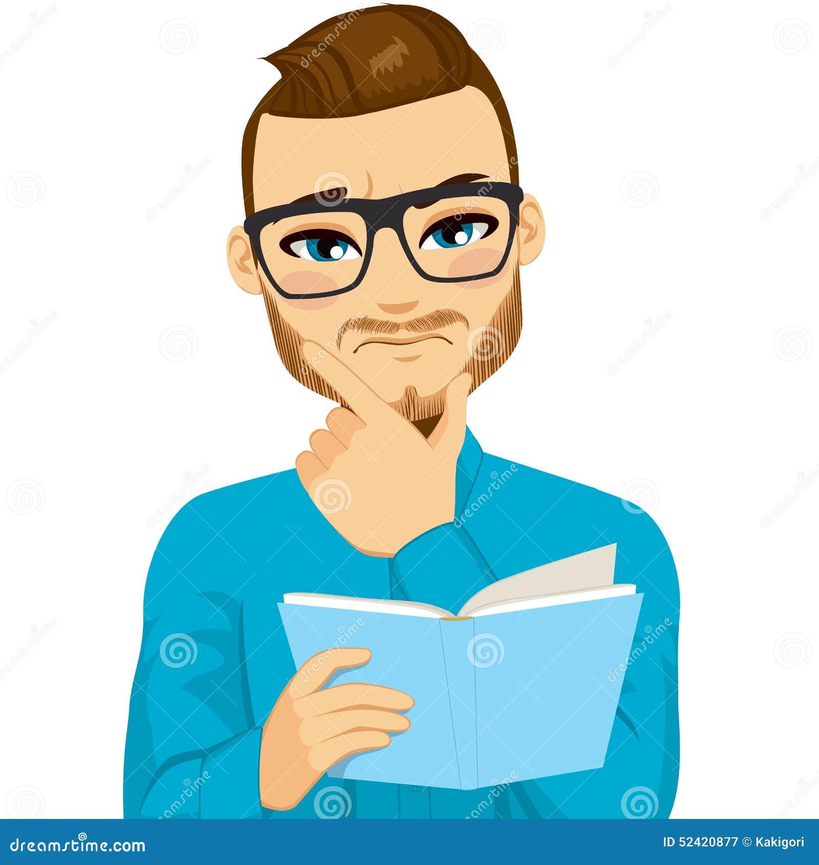 cartoon person reading a - photo #20