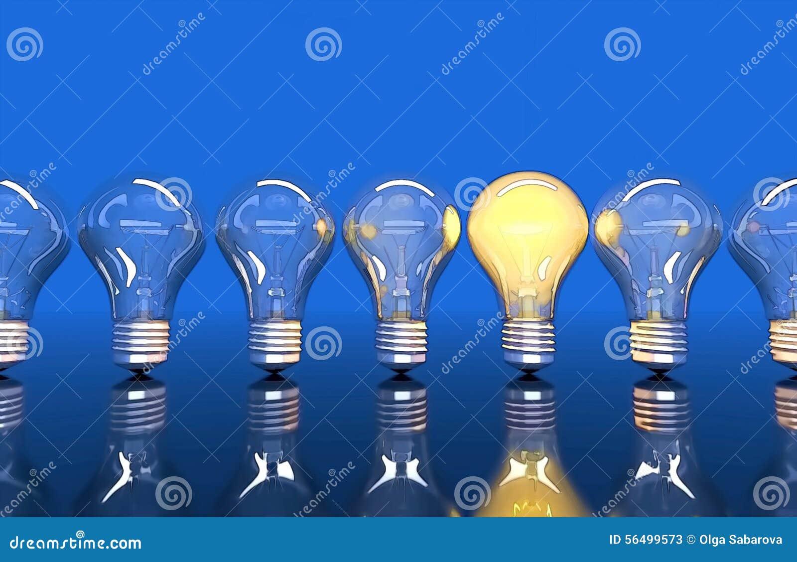 Fodra från sju lampor, sken för en lampa