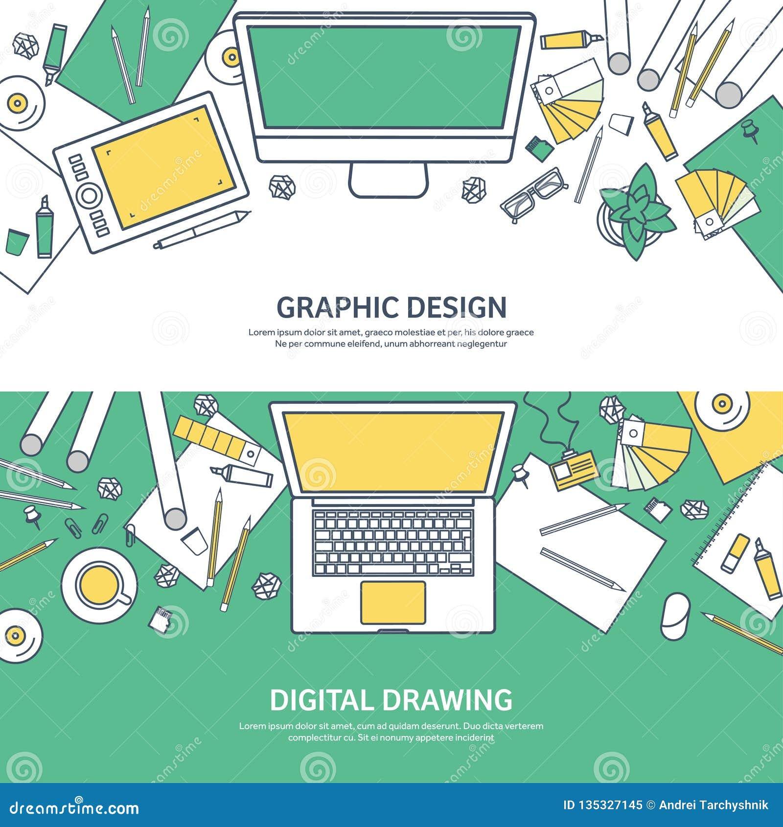 Fodrat plan grafisk rengöringsdukdesign för ouline Teckning och målning utveckling Illustration och skissa som är frilans- använd