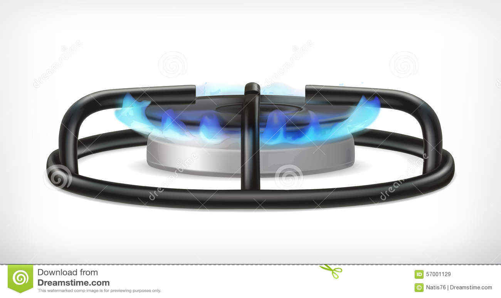 Fogão de gás da cozinha