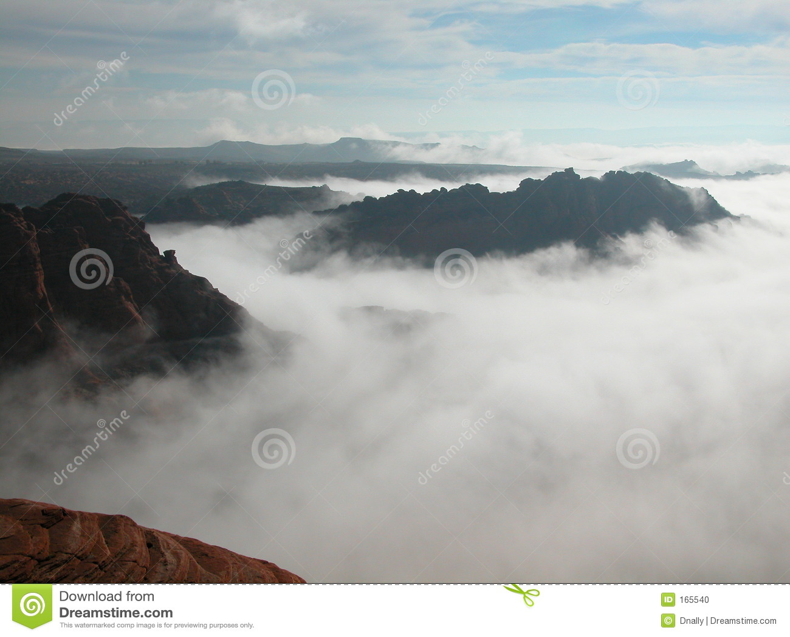 Fog Choking the Red Desert