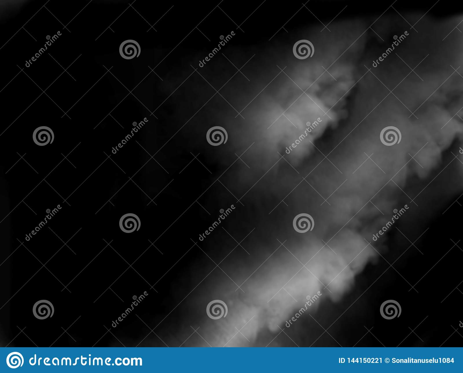 Fog or smoke isolated special effect. blue cloudiness, mist or smog background.