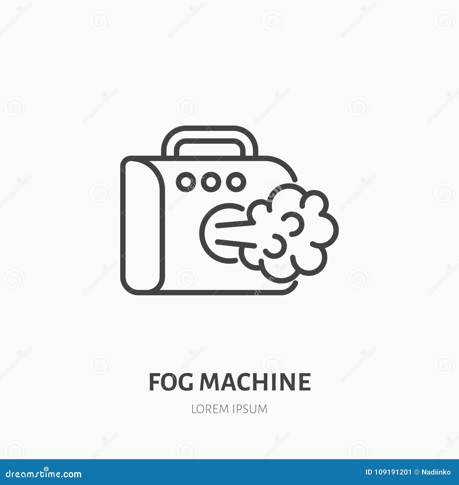 Smoke Machine Rental >> Fog Smoke Machine Flat Line Icon Special Effects Equipment
