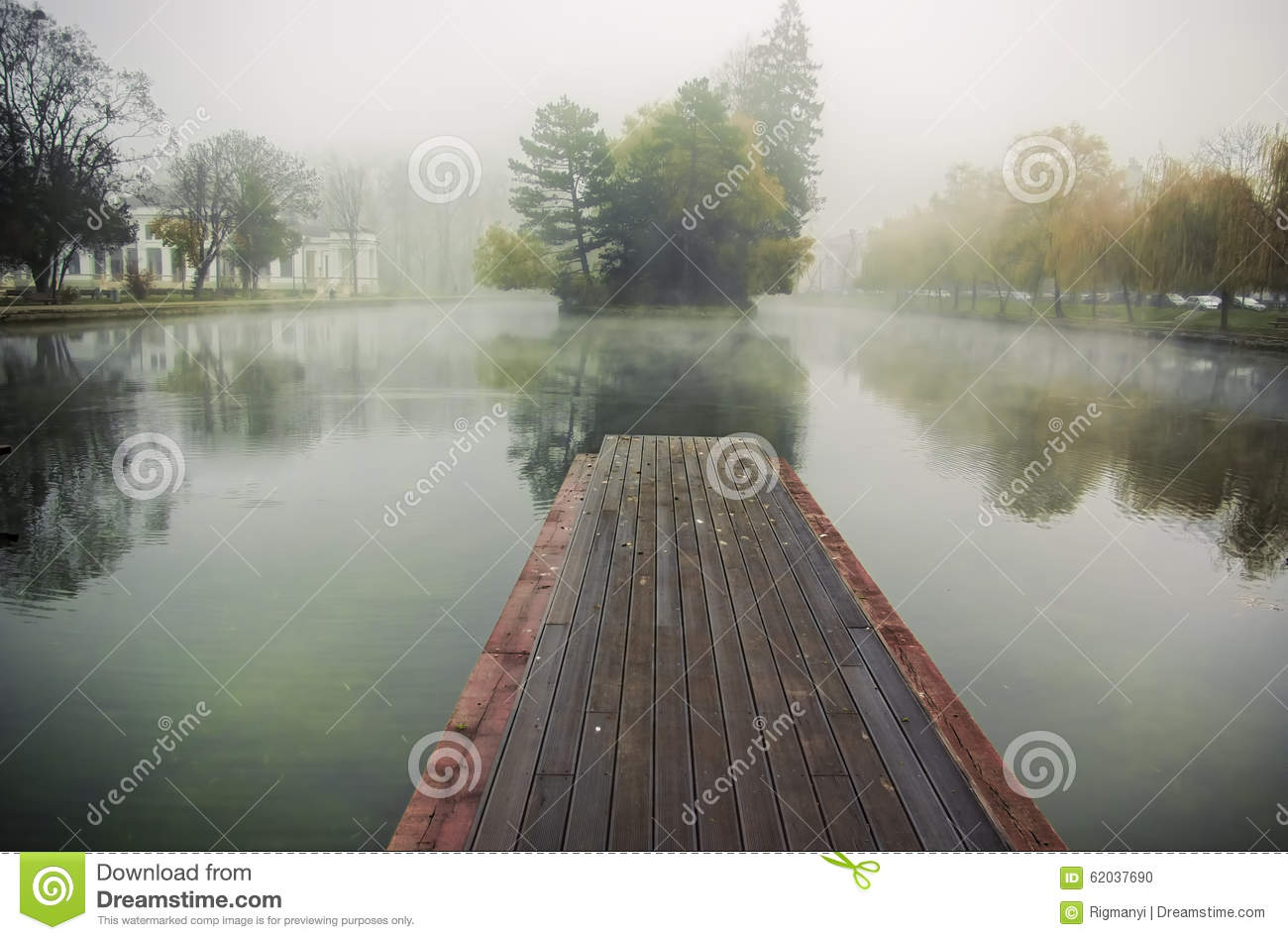 Download Foggy morning stock photo. Image of solitude, nobody - 62037690