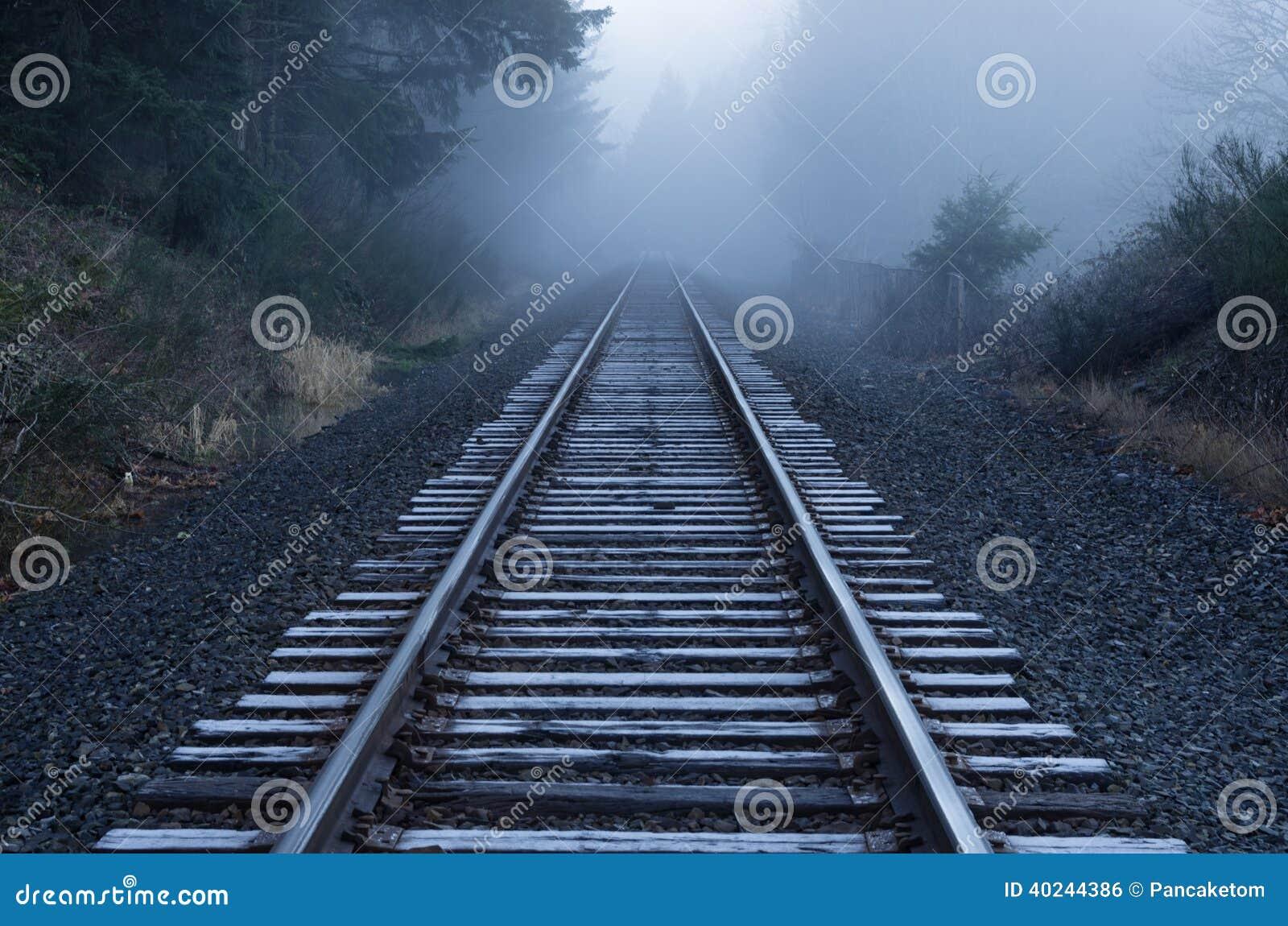 Foggy Railroad Tracks