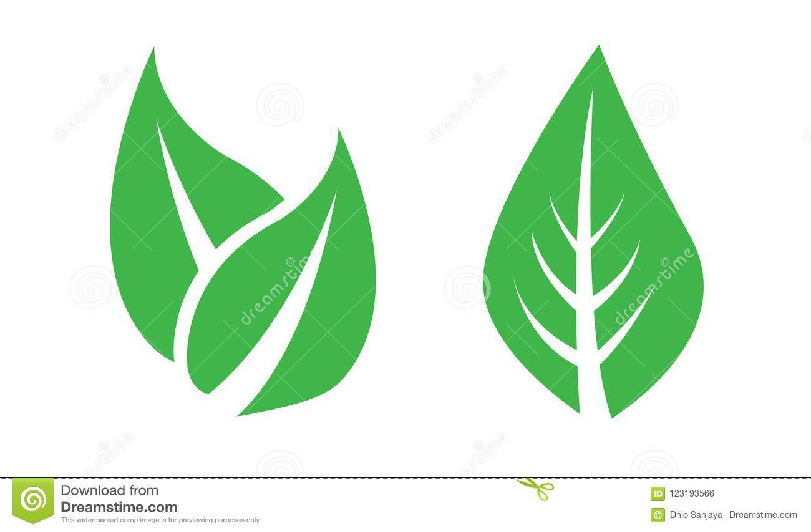 Foglia, foglie, piante, pini, erba, logo, natura, verde, insieme dell icona del vettore