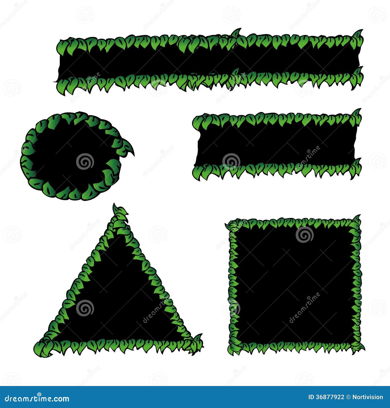 Download Foglie intorno alle forme illustrazione vettoriale. Illustrazione di profilo - 36877922