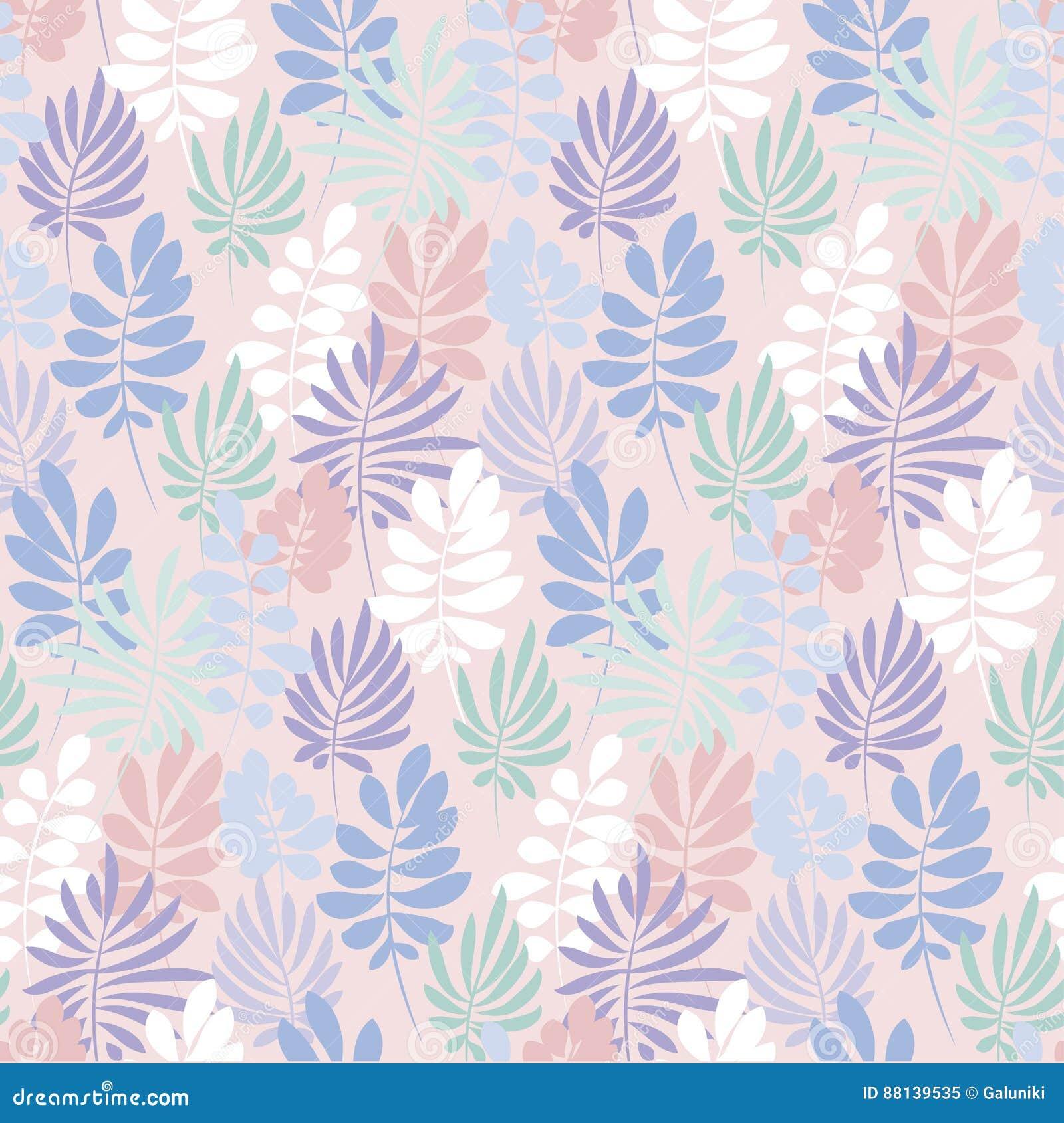 Delicato Colore Viola Pallido foglie tropicali tenere di colore viola ed ottimistico