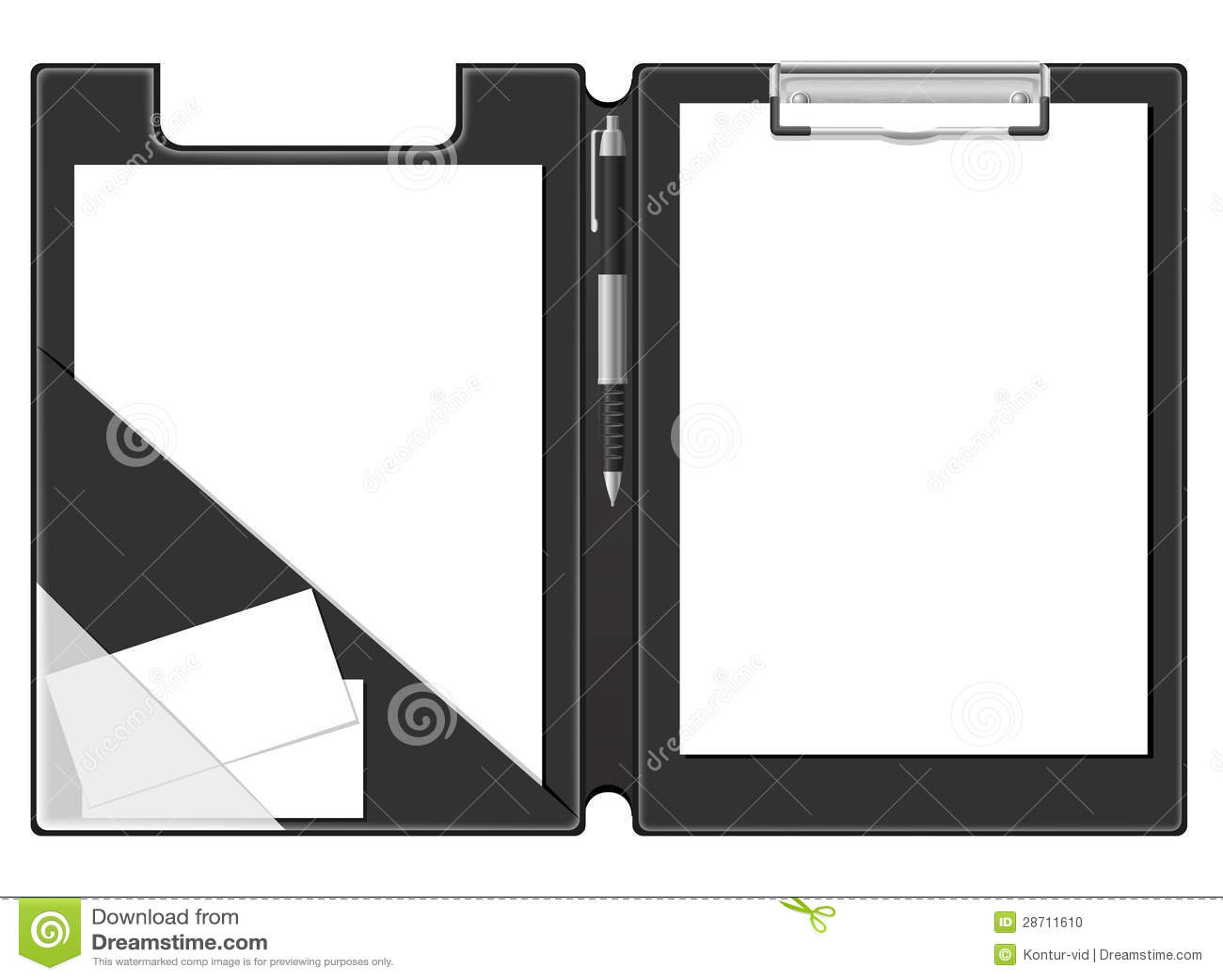 Foglio bianco della cartella dei appunti di documento e - Foglio laminato bianco ...