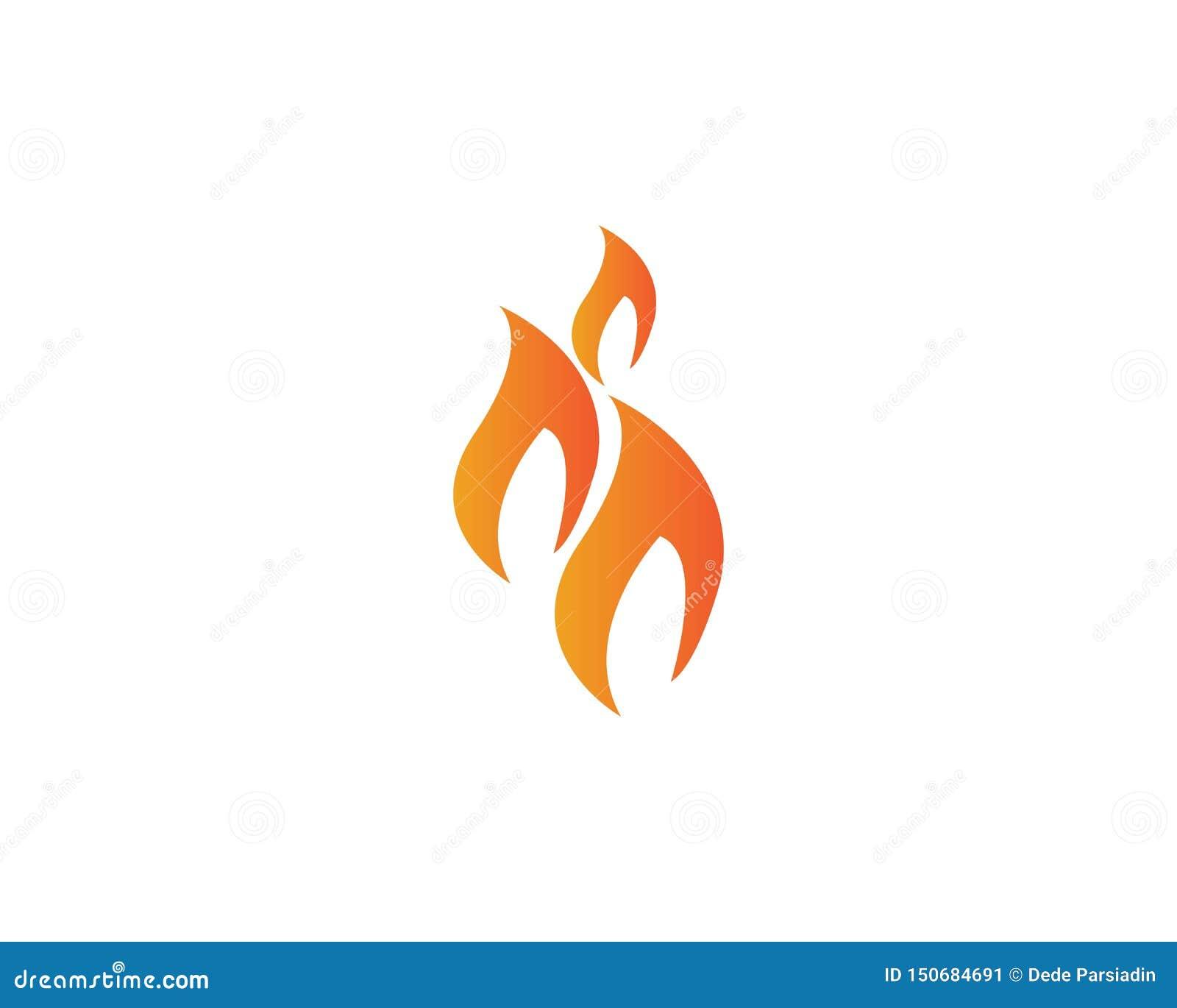 Fogo com logotipo do flamme do mit da chama e do feuer - vetor