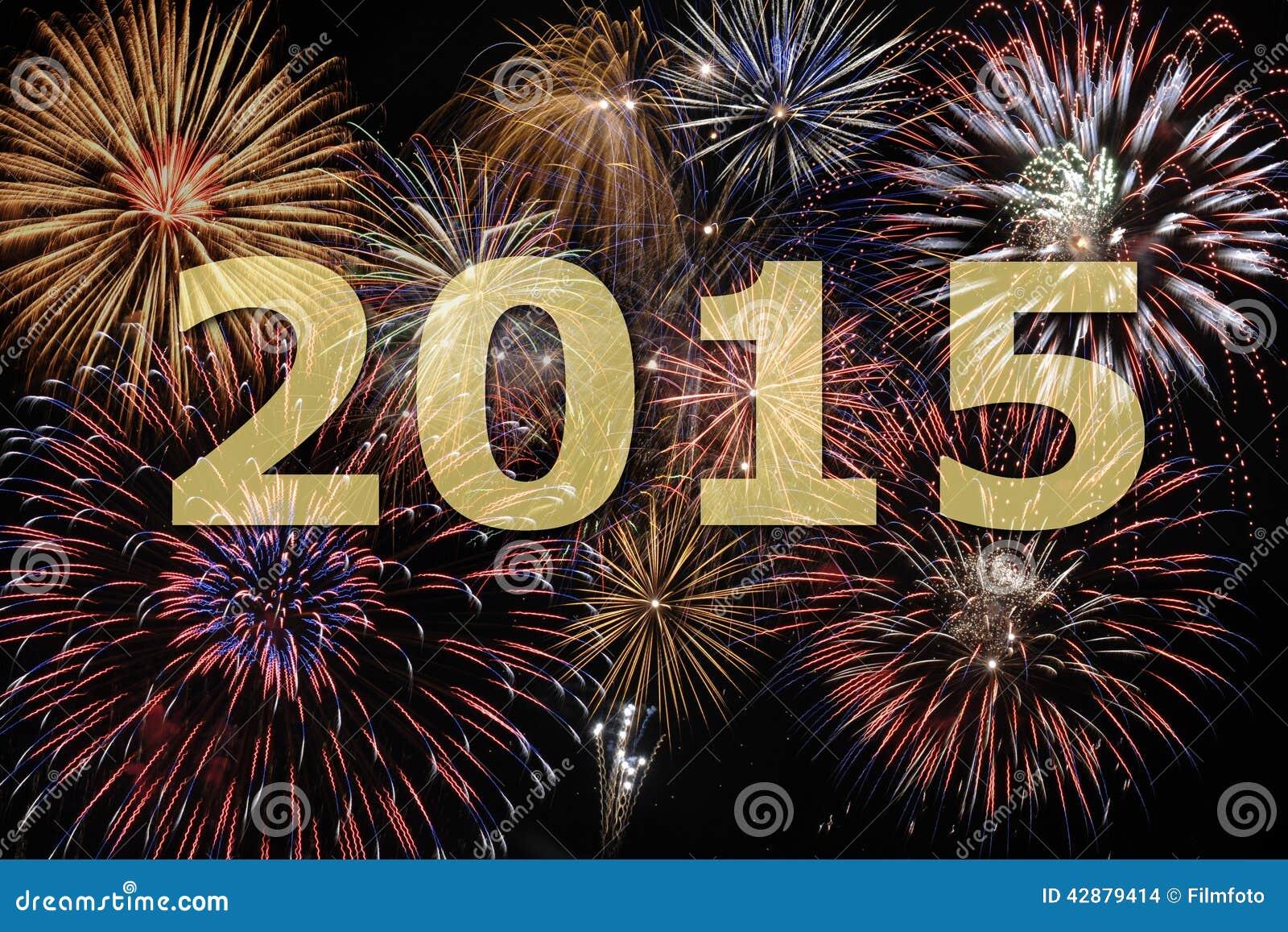 Fogo de artifício 2015 do ano novo