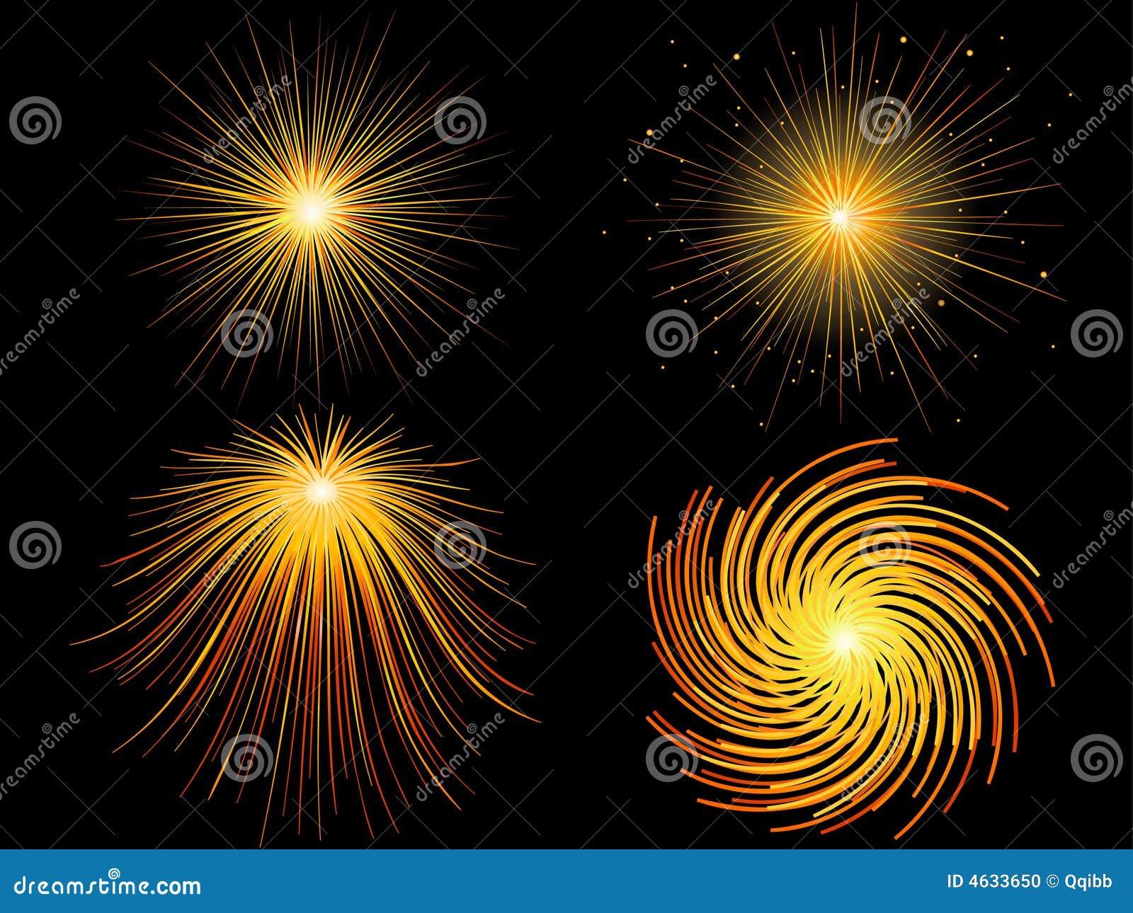 Fogos-de-artifício, raia de luz