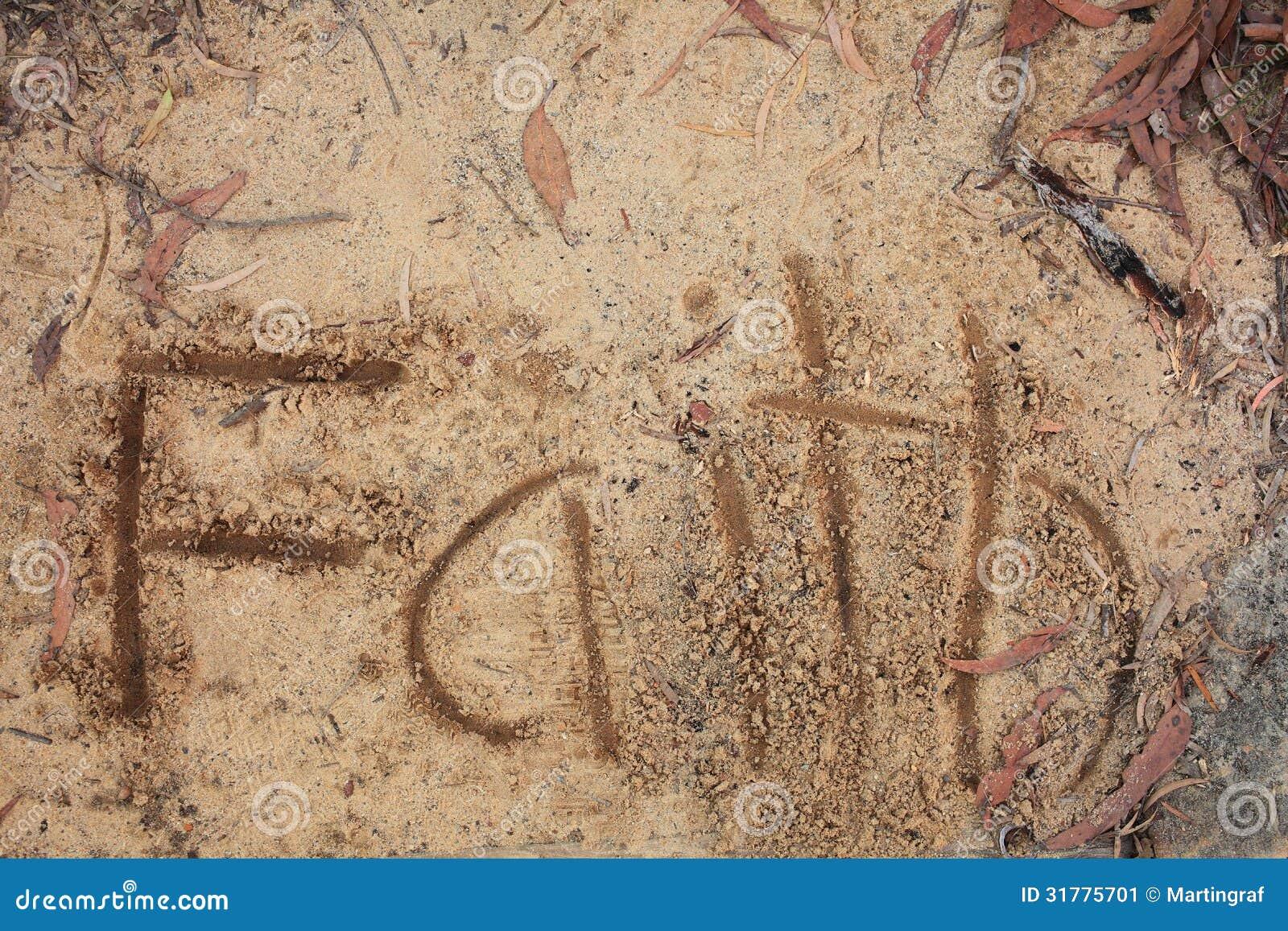 Foi de Word sur le sable