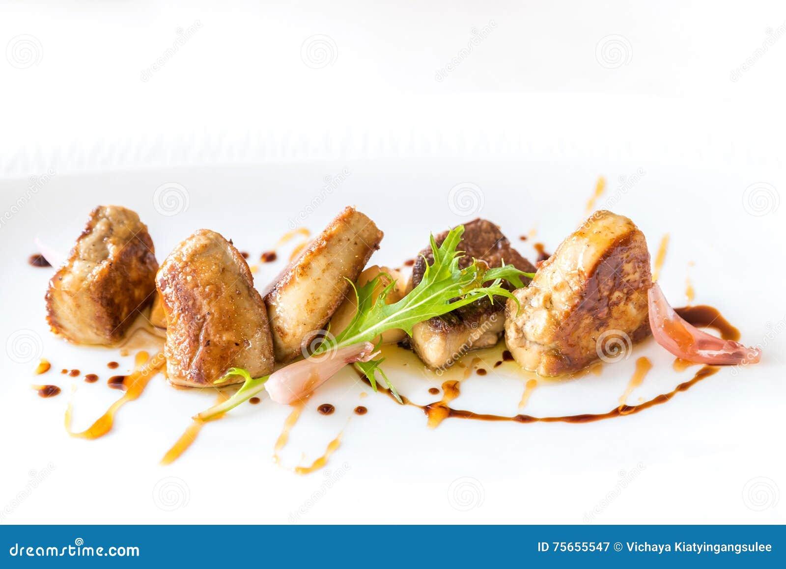 Foie gras som grillas