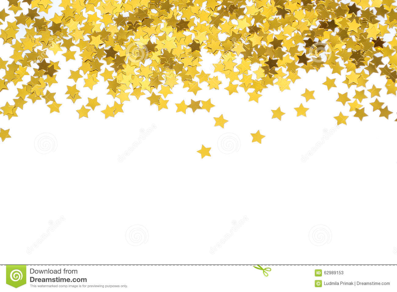Foiled Gold Stars Frame With Stars Scattered Stars