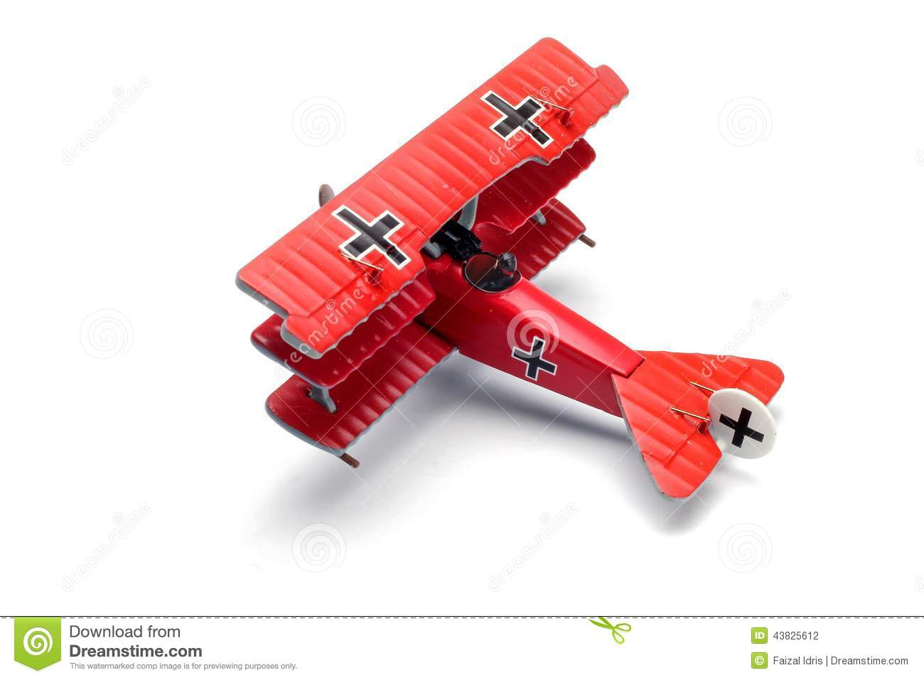 Fokker Drl Diecast Model Fighter Aircraft Collection Stock