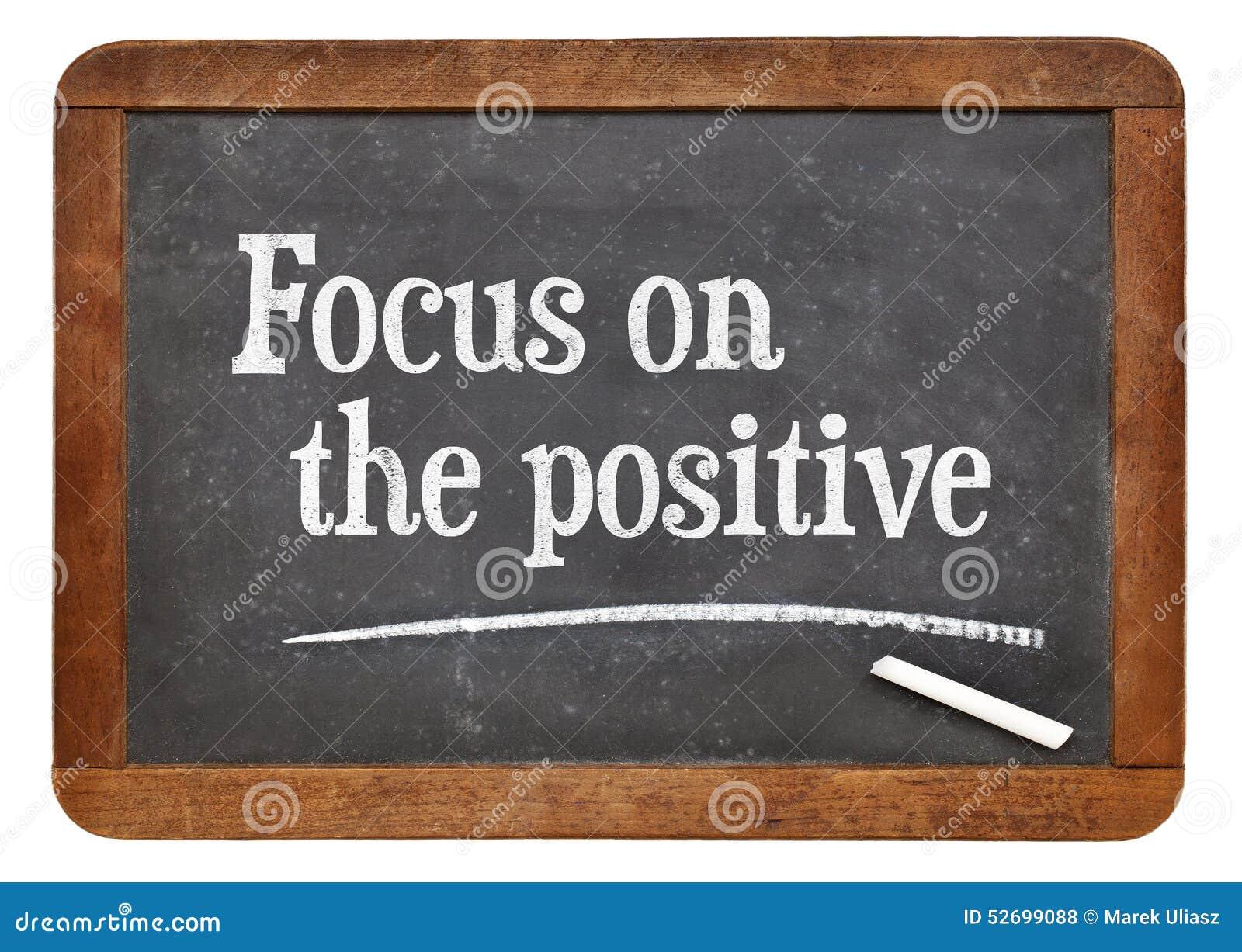 Fokus auf dem Positiv