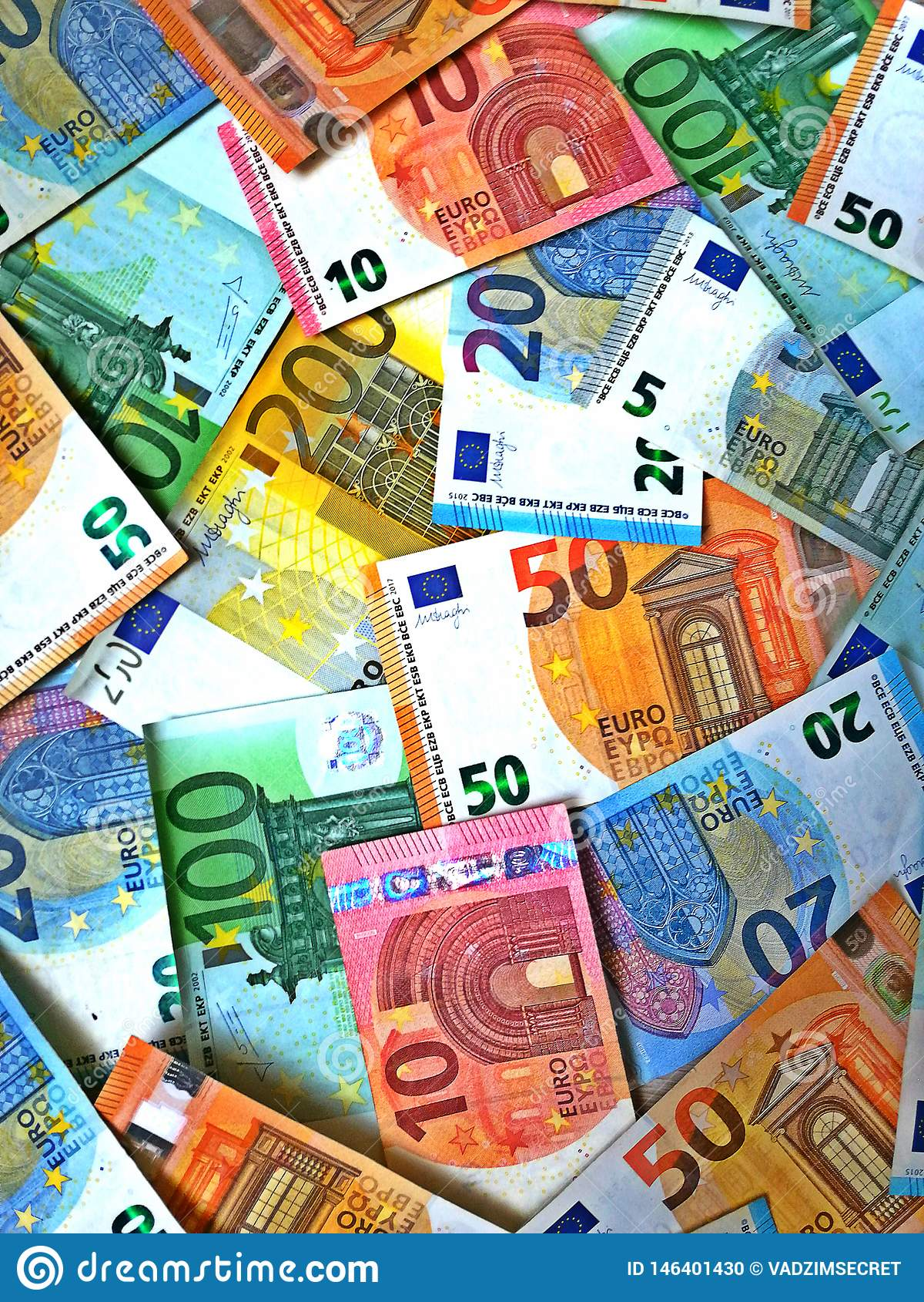Fokus auf Seil Eurobargeldhintergrund Eurogeldbanknoten
