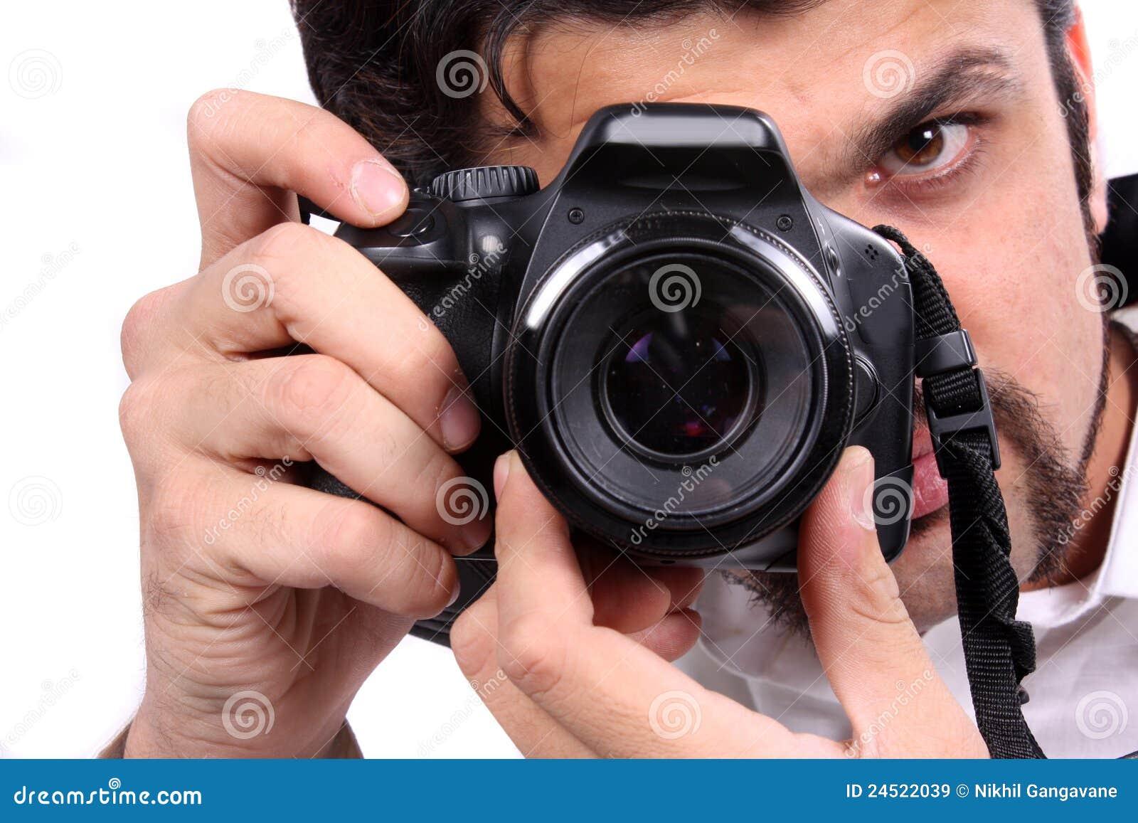 Fokus eines Fotografen