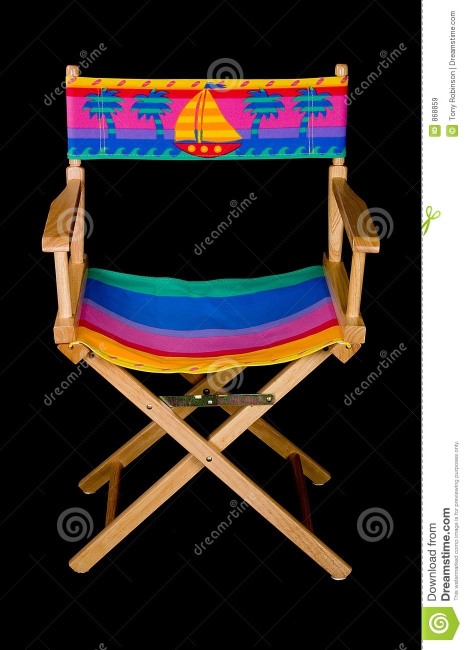 Fold Out Beach Chair Straight Royalty Free Stock Image