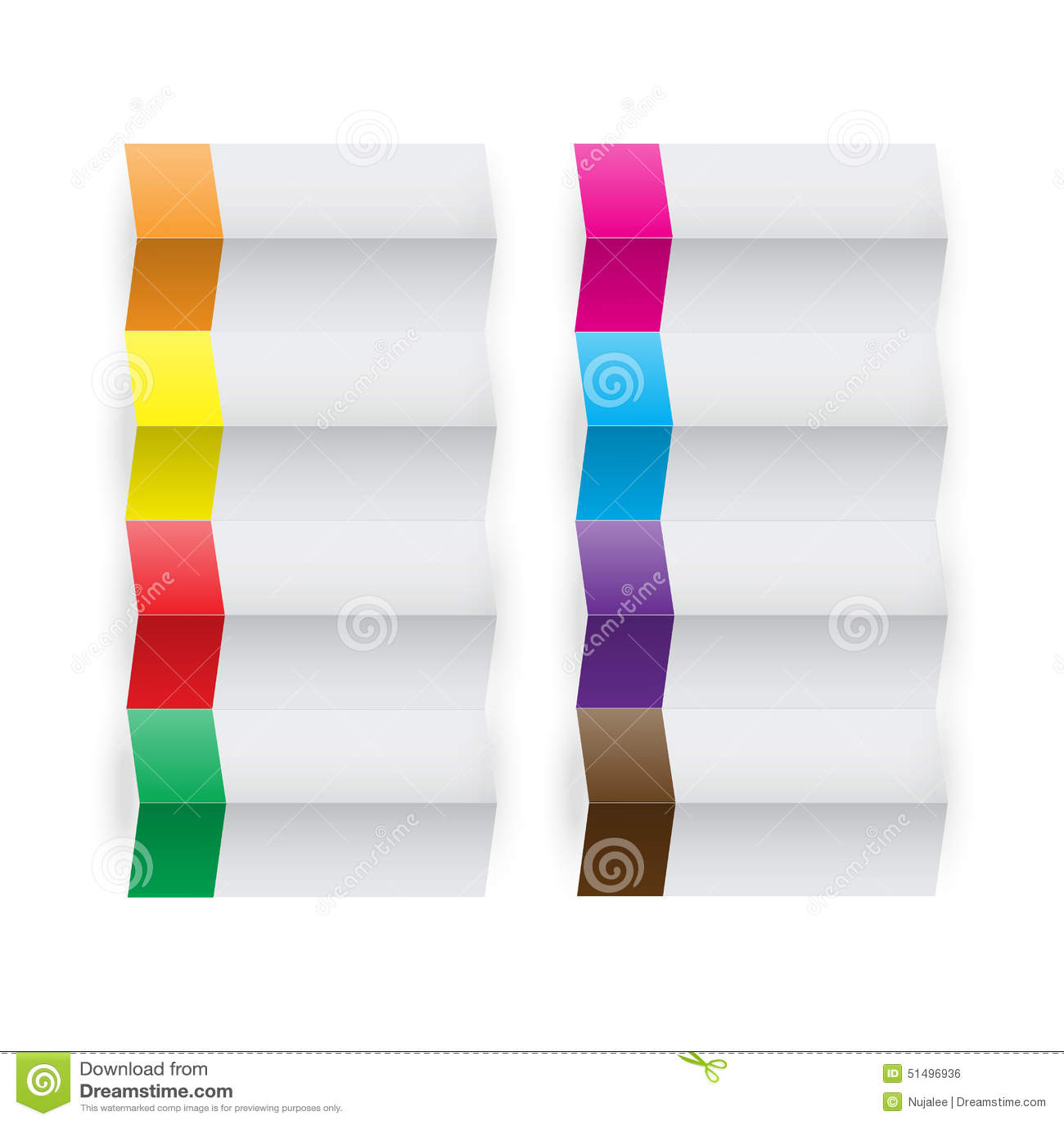 folded banner origami stock illustration illustration of ribbon