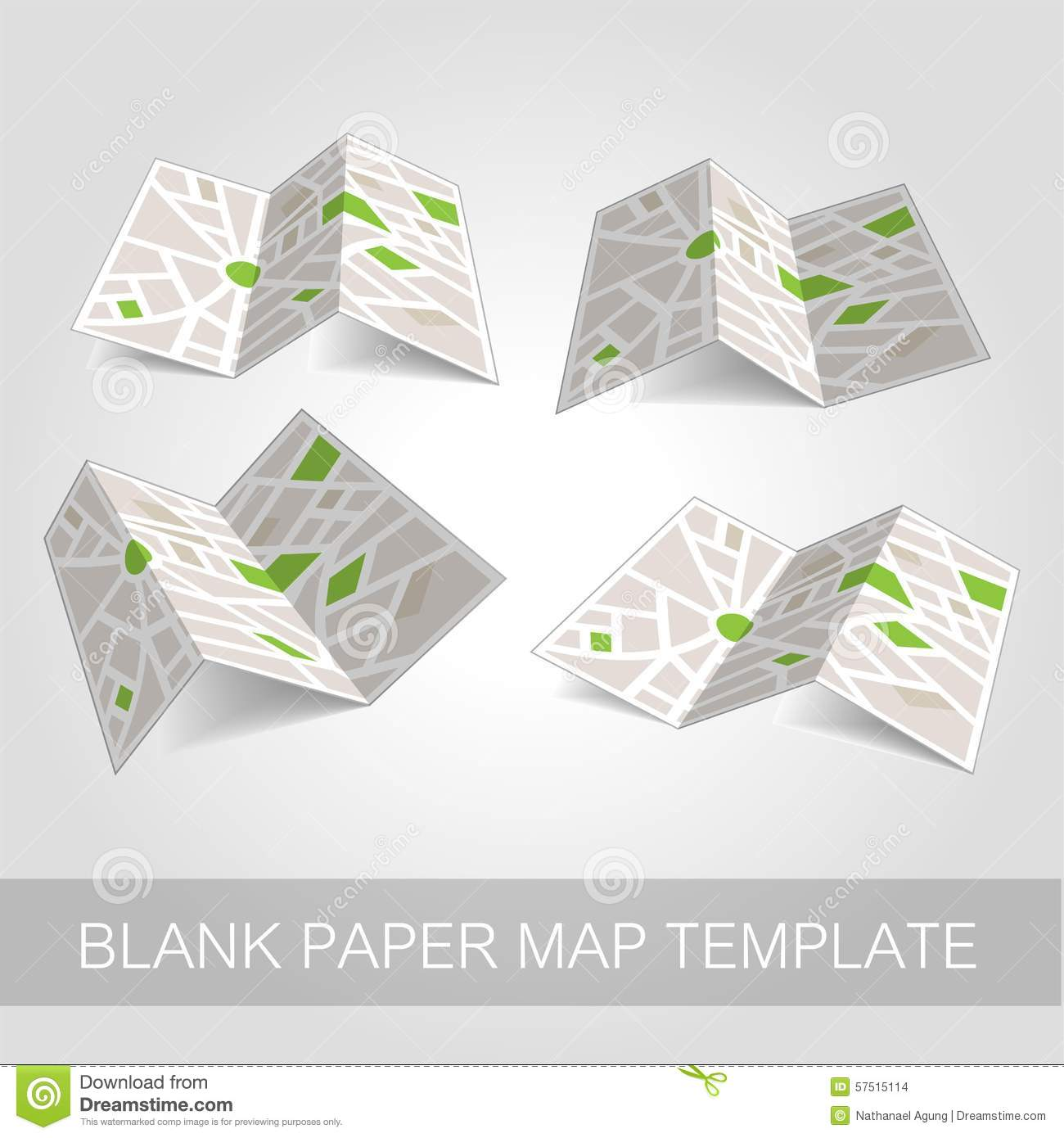 Folded Map Template Illustration Stock Vector - Illustration of ...