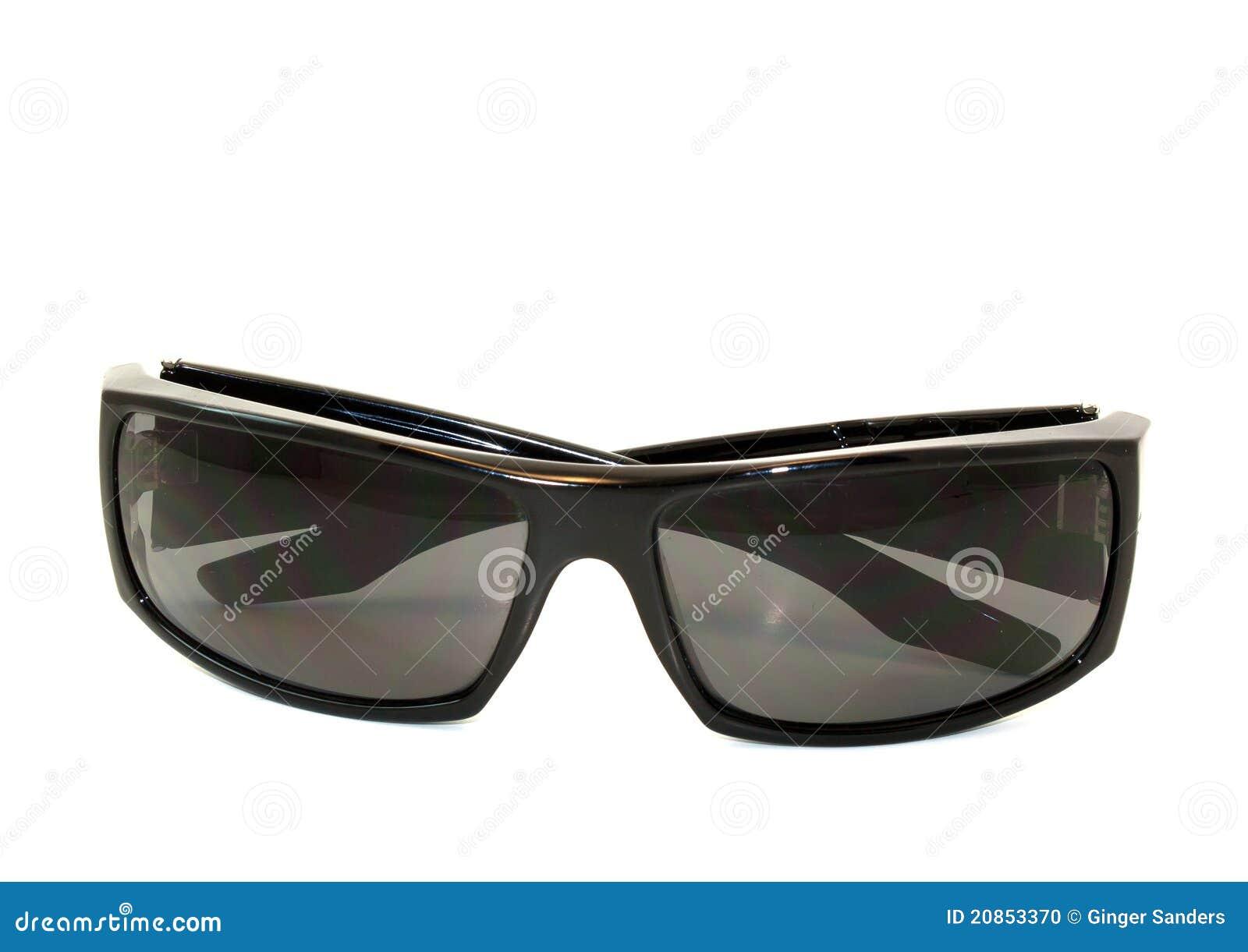 Folded Men's Sunglasses On White Background