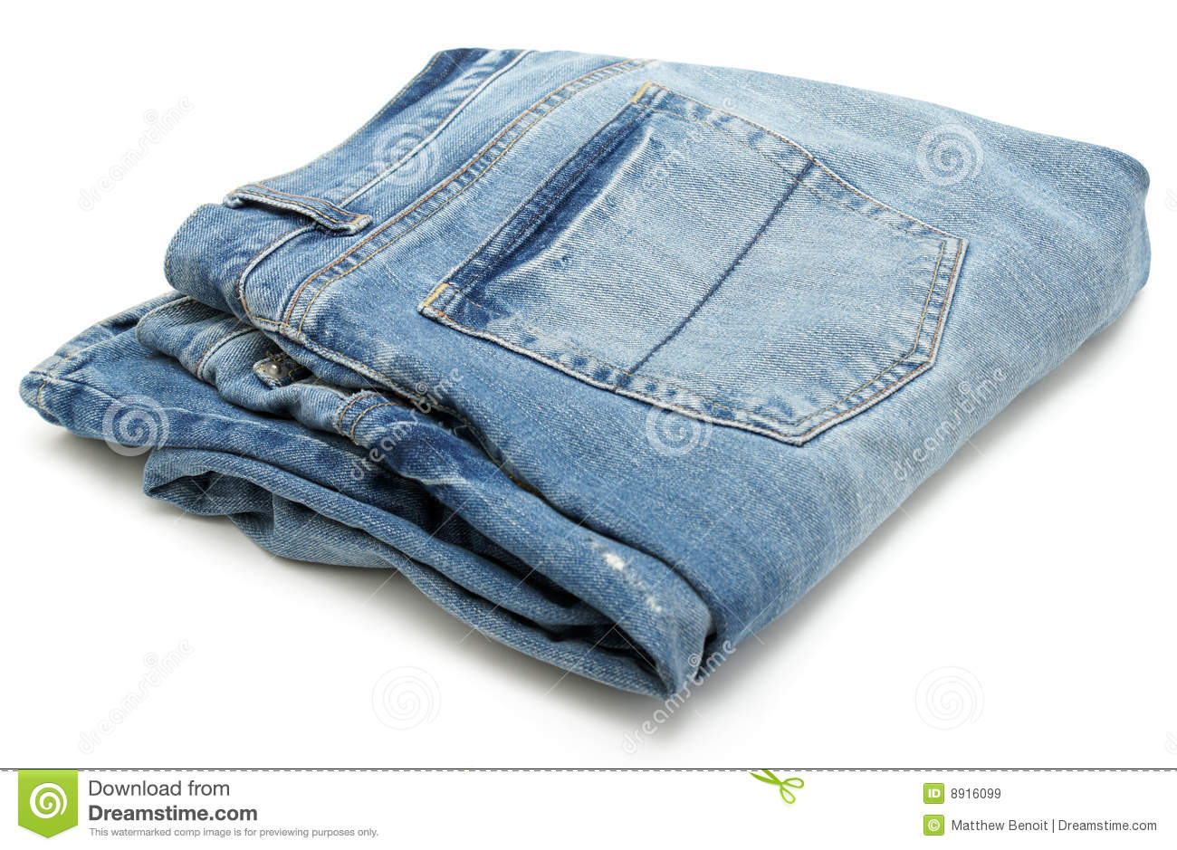 Folded Pair of Jeans stock image. Image of seam, style ...