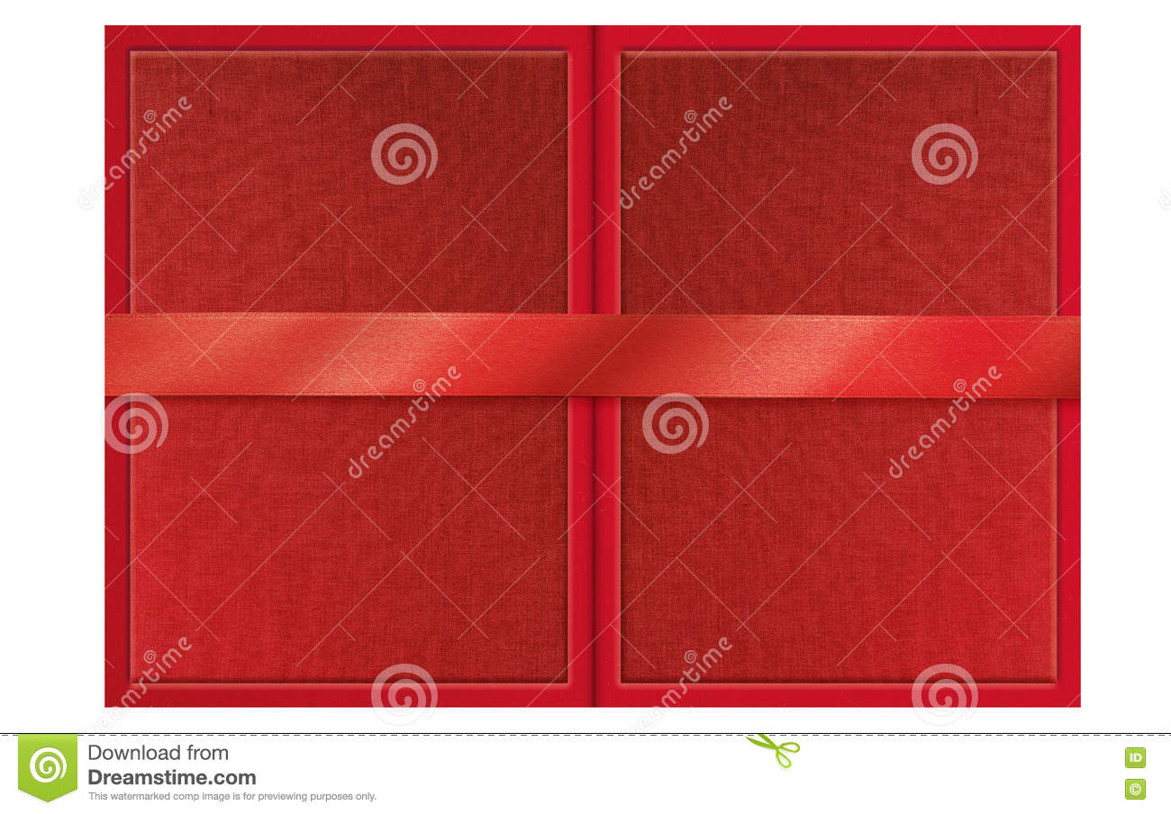 Folded Presentable Red Certificate Folder Stock Image Image Of
