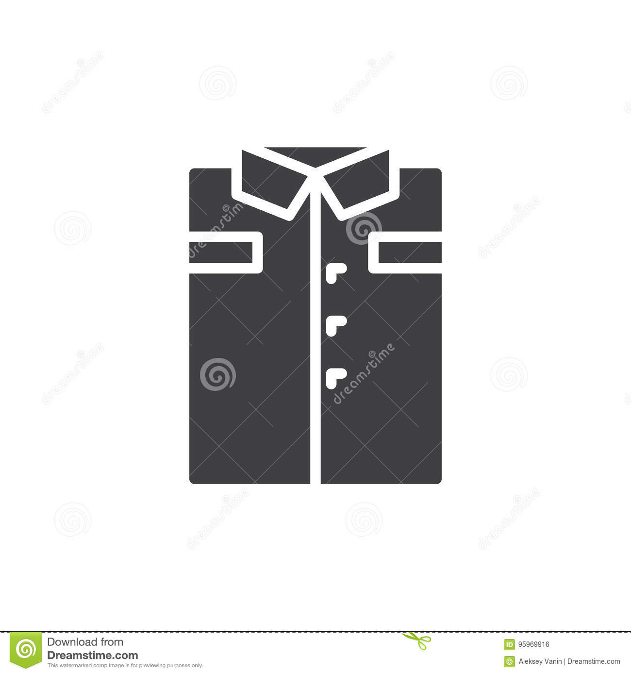 folded shirt icon vector filled flat sign solid pictogram isolated