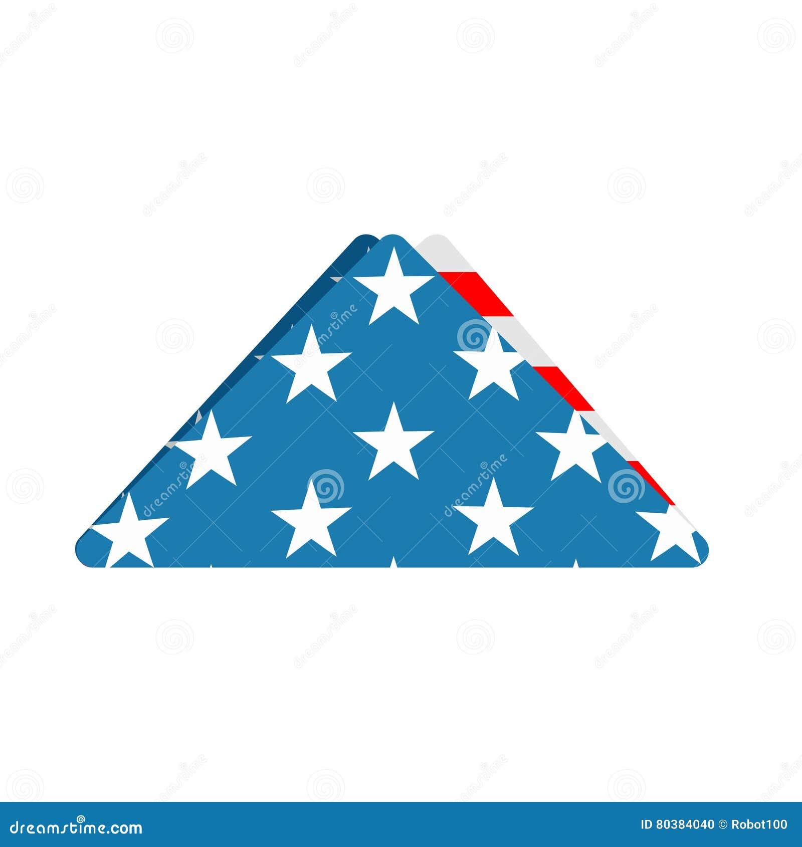 Folded Us Flag Triangle Symbol Of Mourning National Symbol Of U