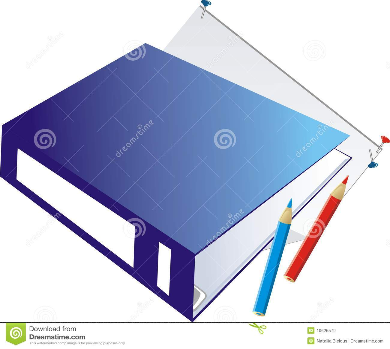 Organized Binder Clipart Folder-binder And Penc...