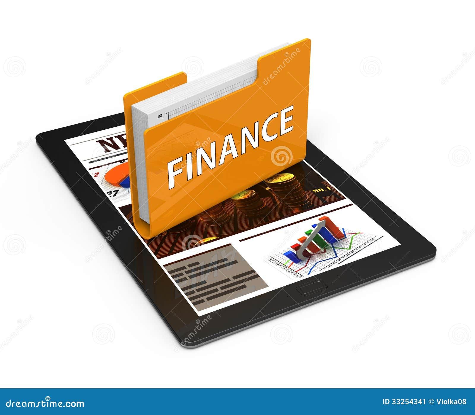 Business Finance: Folder Finance Stock Image