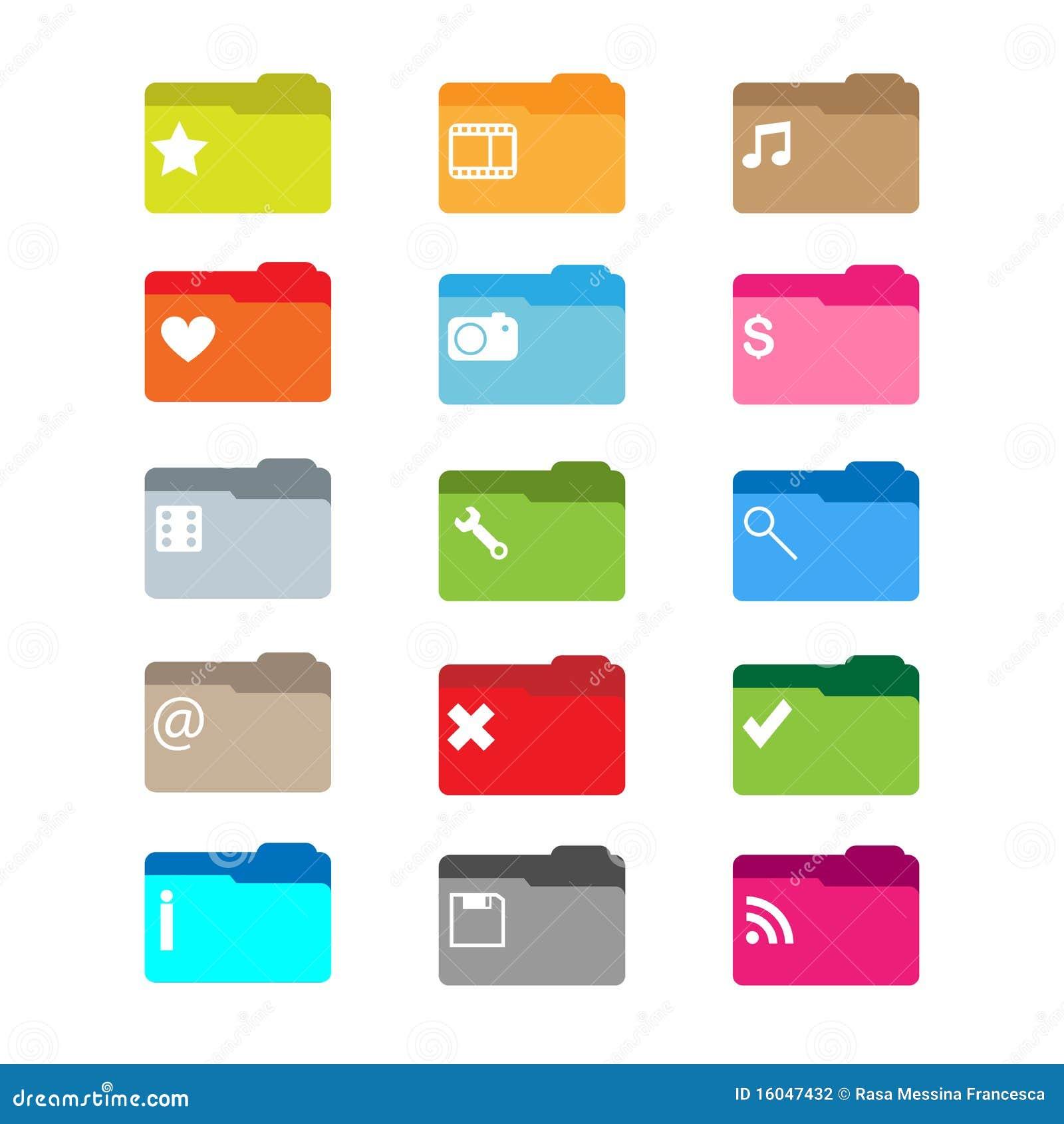 Folder Icons Stock Photography - Image: 16047432