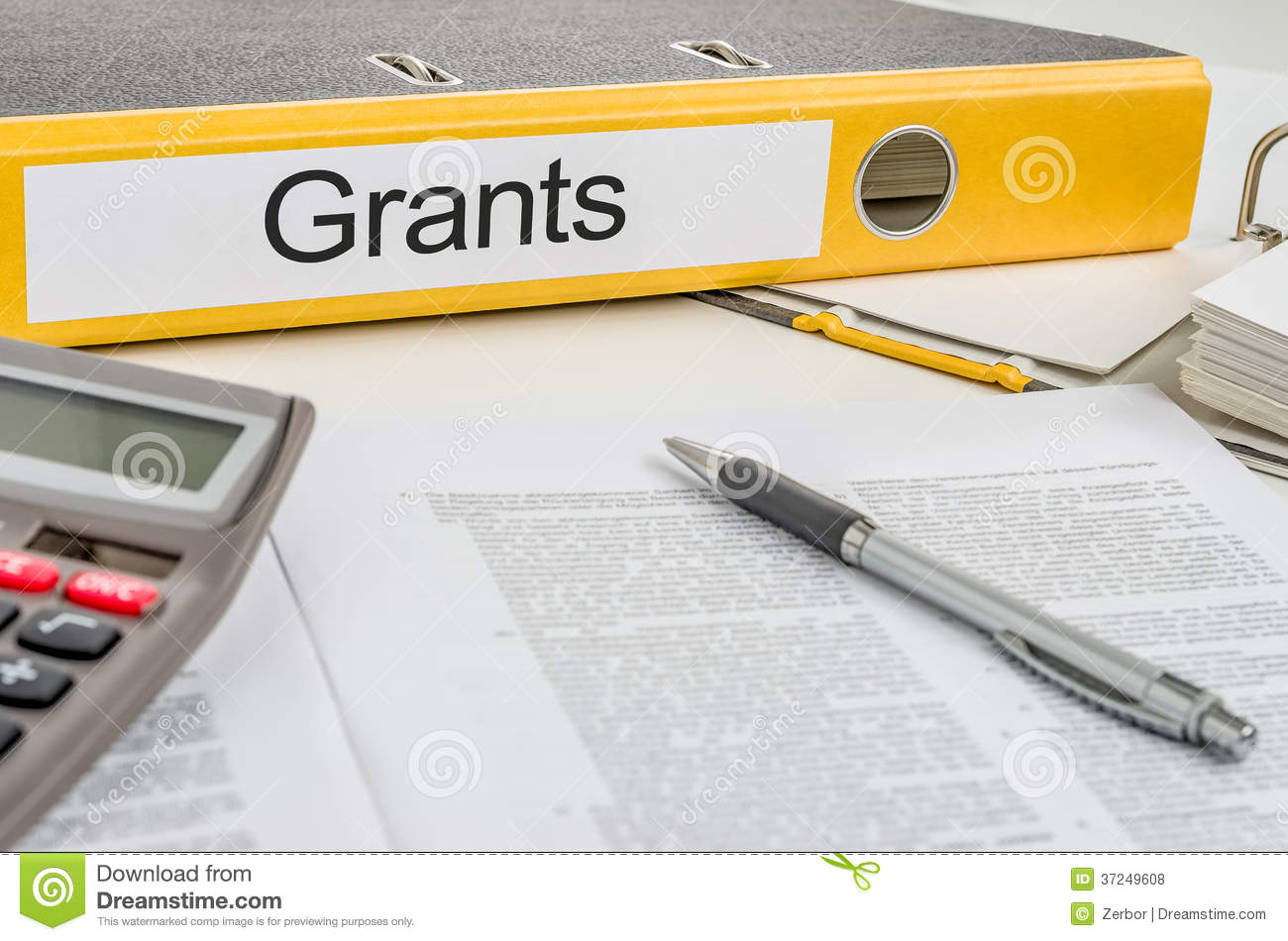 A folder with the label Grants