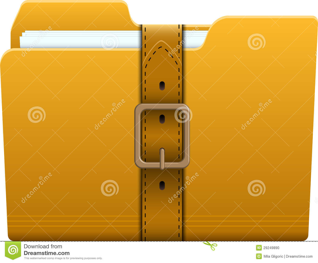 Locked Folder Stock Image | CartoonDealer.com #25300405