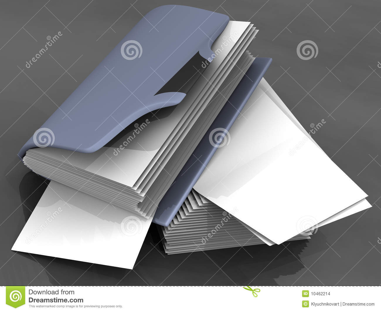 Folder with a sheet of paper Blank mess chaos