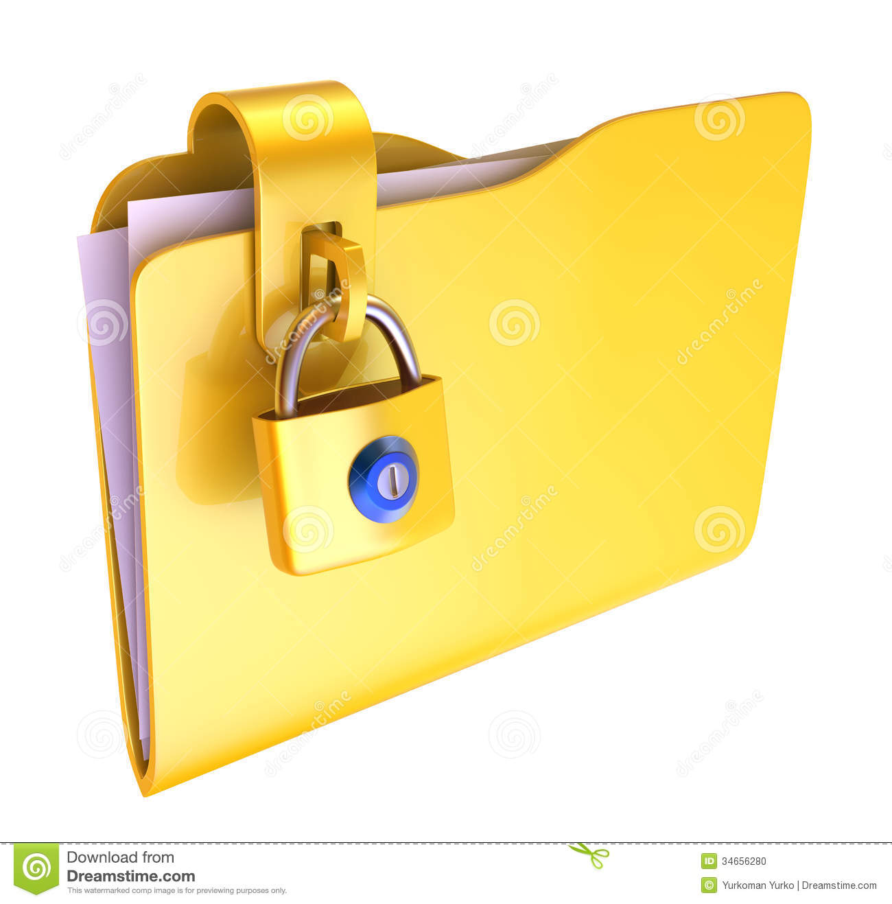 Folder Stock Photo - Image: 34656280