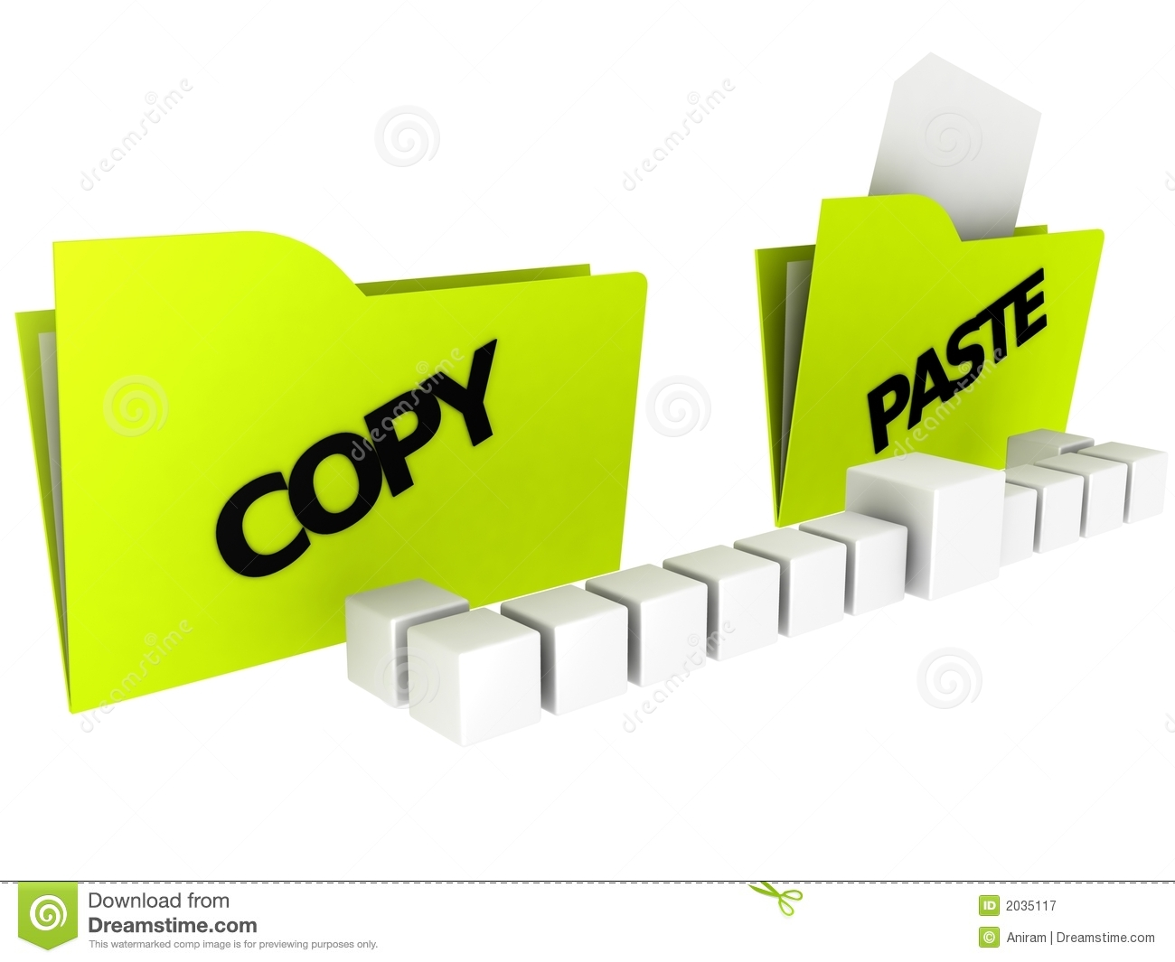 Folders: Copy And Paste Royalty Free Stock Photography - Image ...