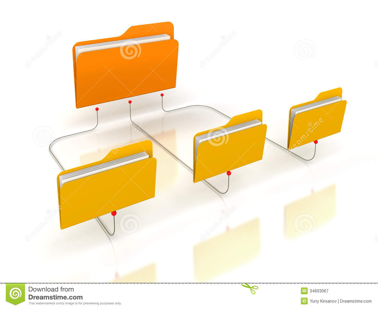 Folders Network Structure Stock Illustration Image Of