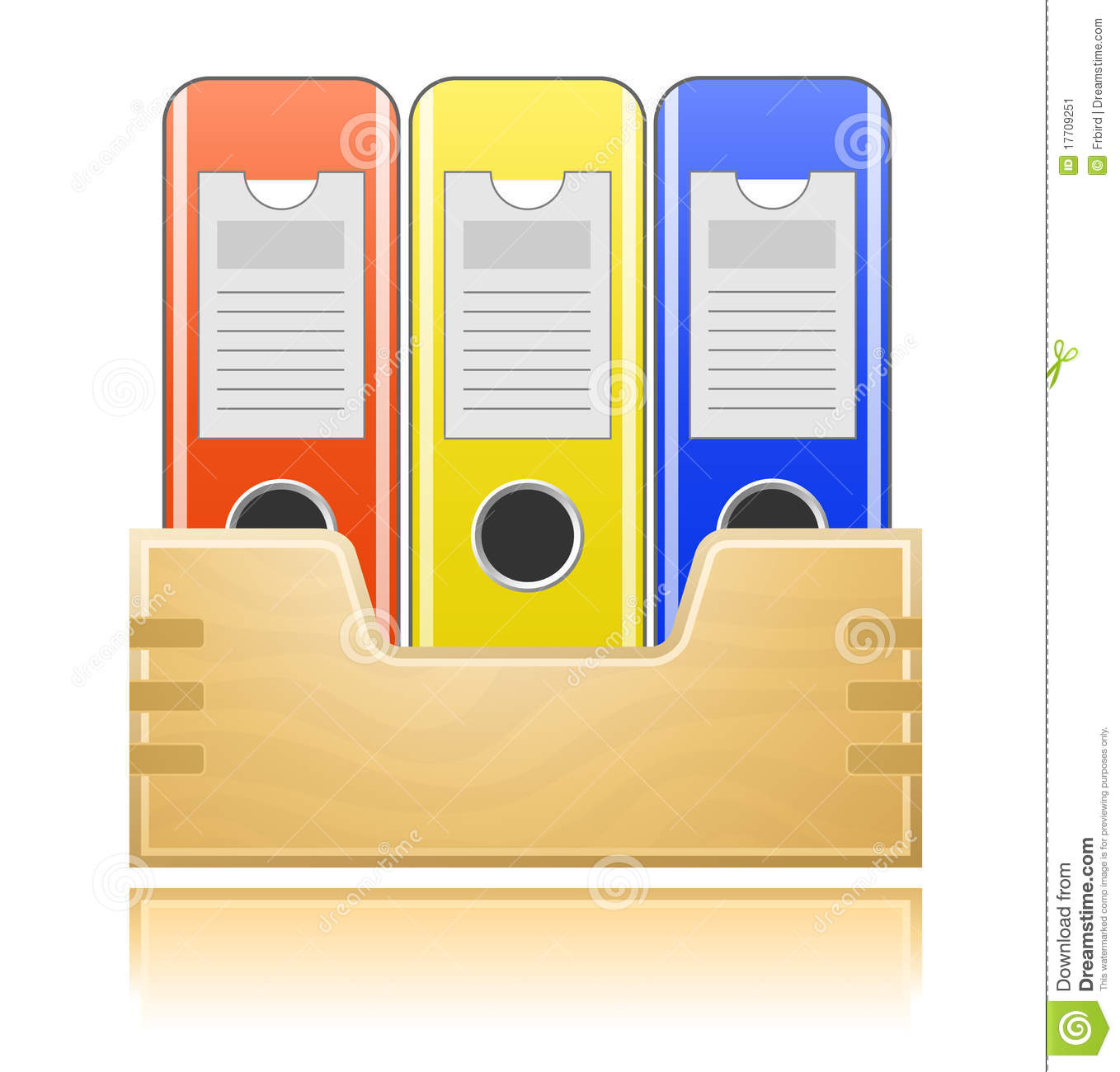 Folders For Office Documents Stock Vector Image 17709251