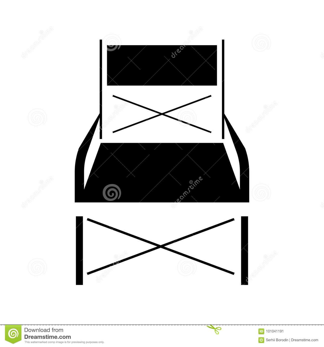 Surprising Folding Chair Black Icon Stock Vector Illustration Of Pdpeps Interior Chair Design Pdpepsorg