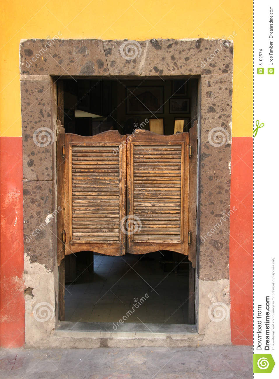 Folding Door In Old Saloon Stock Images Image 5102674