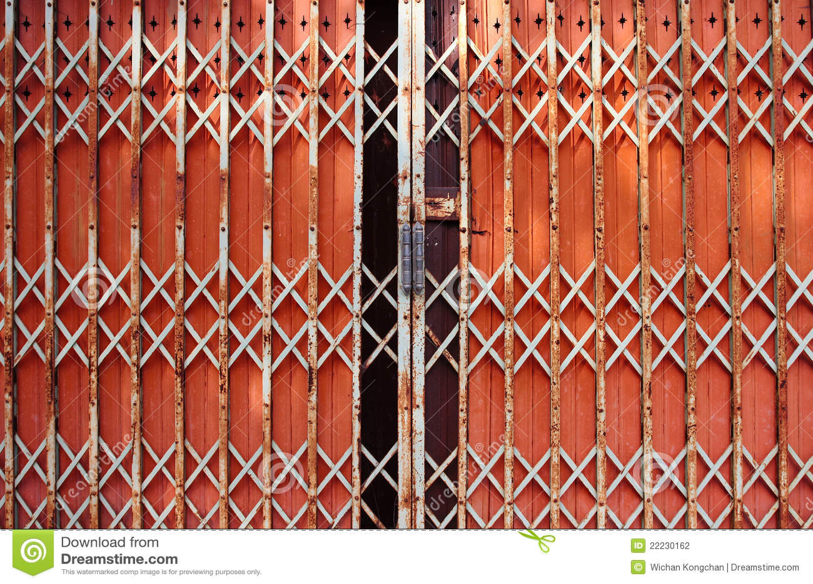 Folding Doors Iron Door Stock Photography Image 22230162