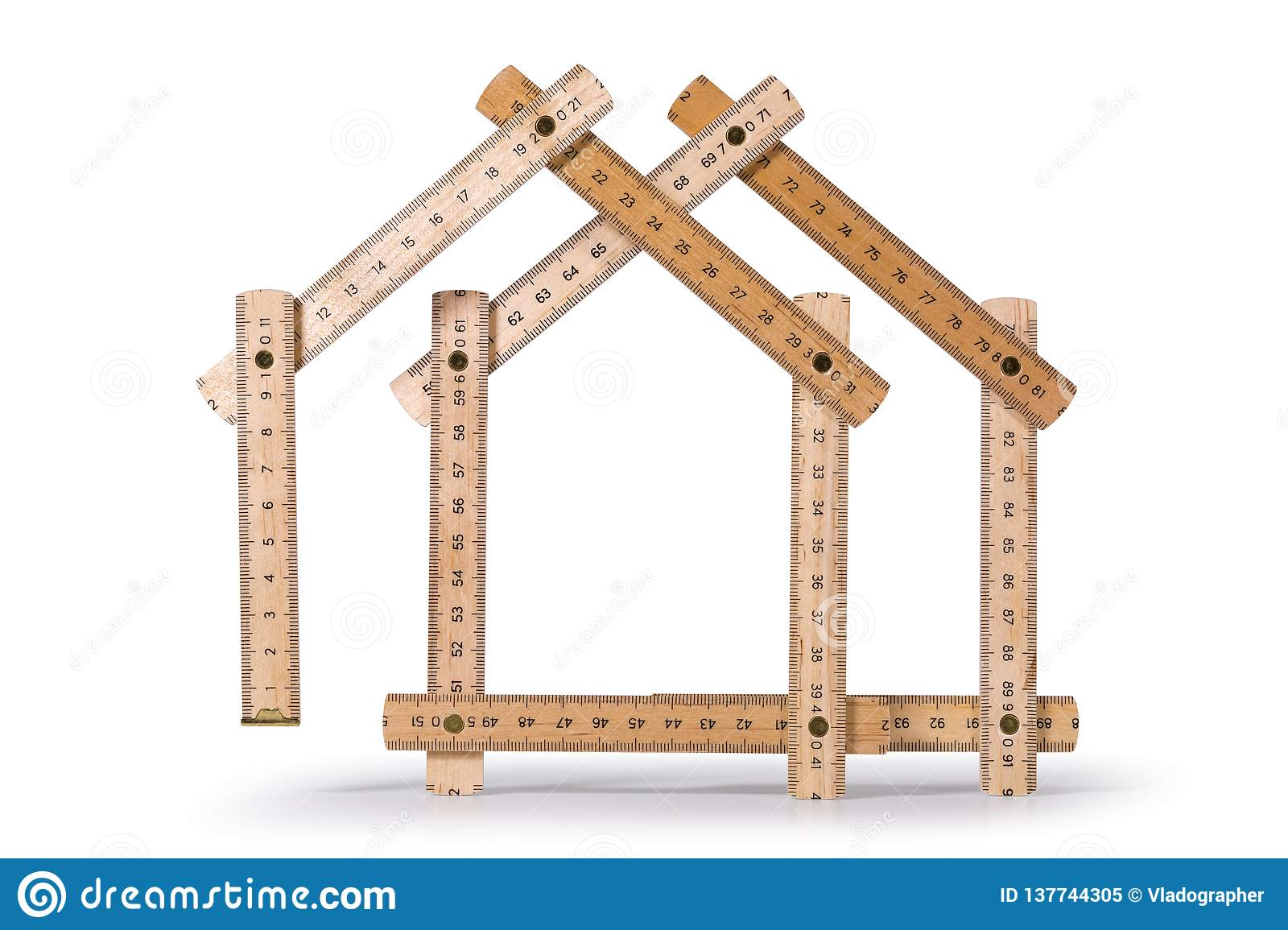 Folding Meter Stick Houses stock image  Image of makeover