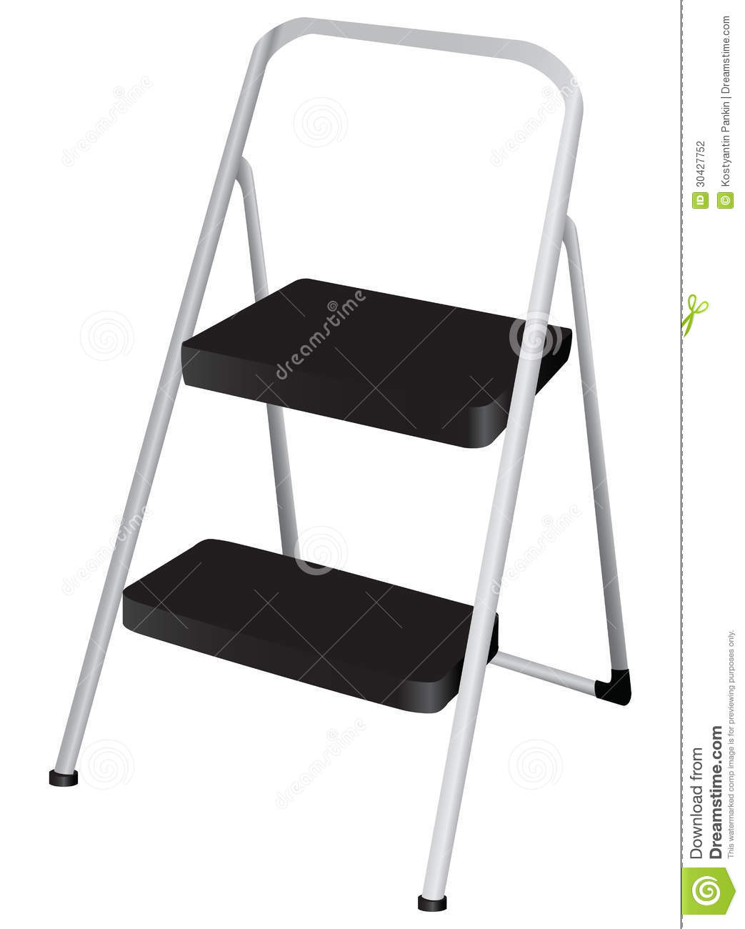 Folding Step Stool Vector Illustration Cartoondealer Com