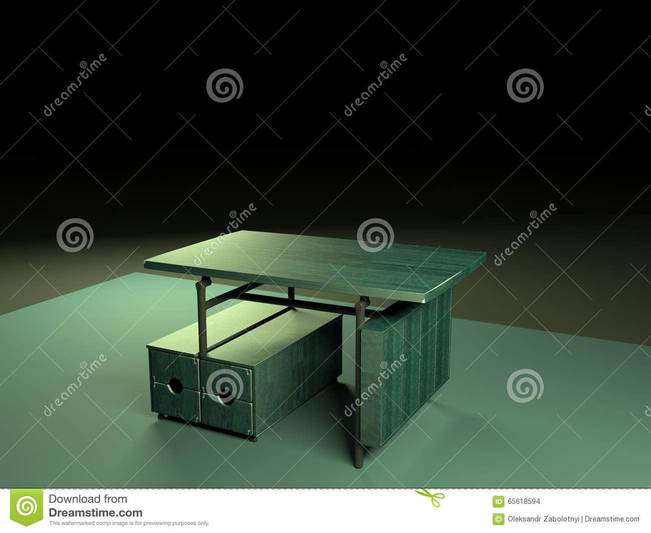 Folding table 3d model-1 stock illustration  Illustration of