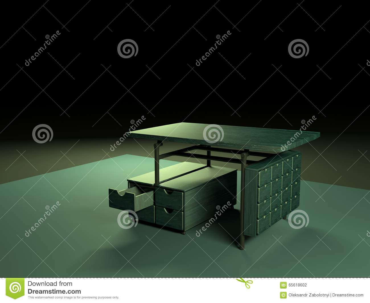 Folding table 3d model-4 stock illustration  Illustration of
