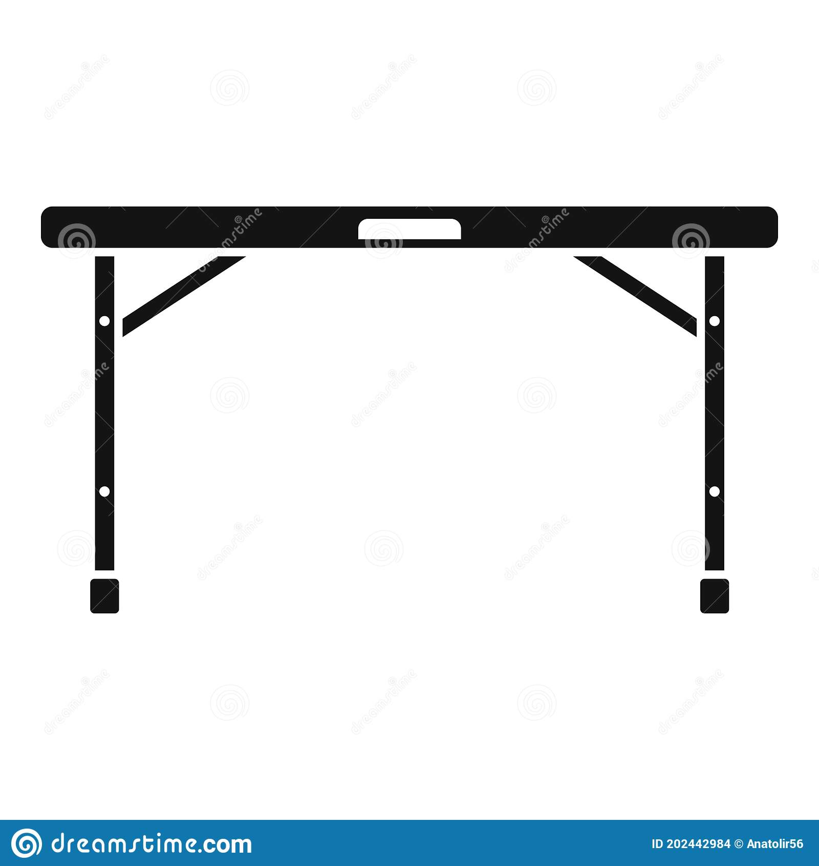 Folding Table Icon Simple Style Stock Vector Illustration Of Decor Folding 202442984
