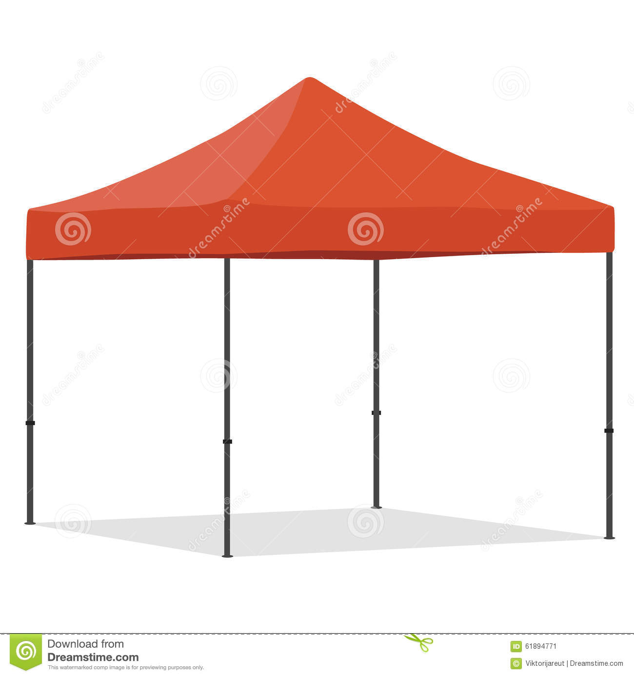Pop Up Gazebo Cartoon Vector Cartoondealer Com 24590171
